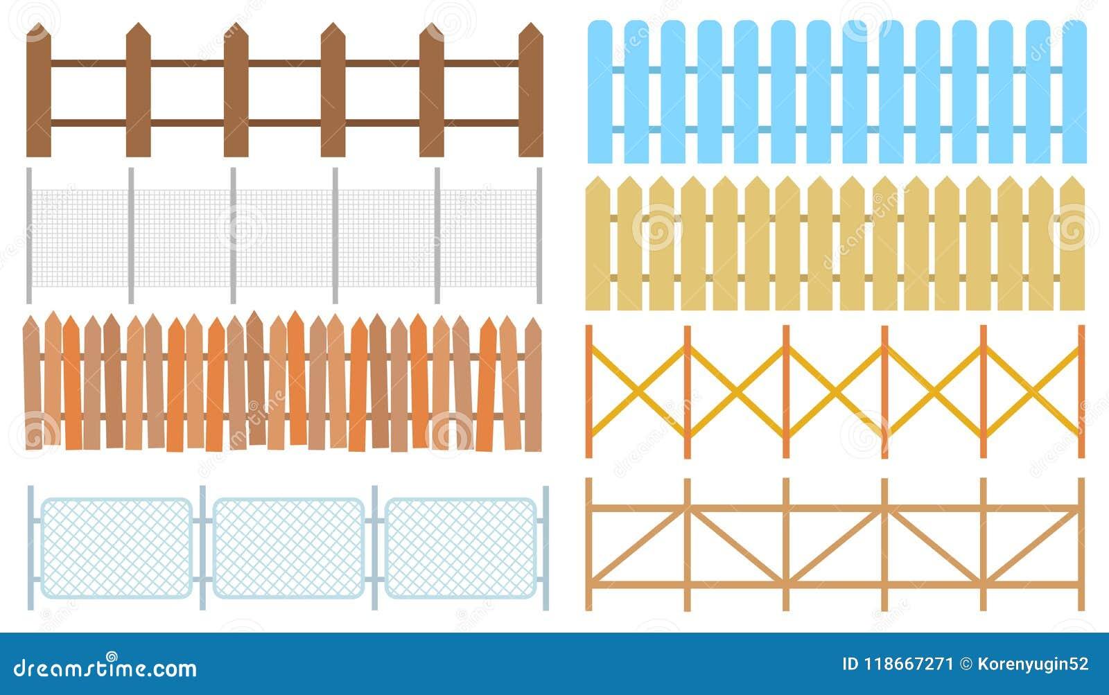 Recinzioni Per Case Di Montagna recinti di legno rurali, vettore dei picchetti recinto