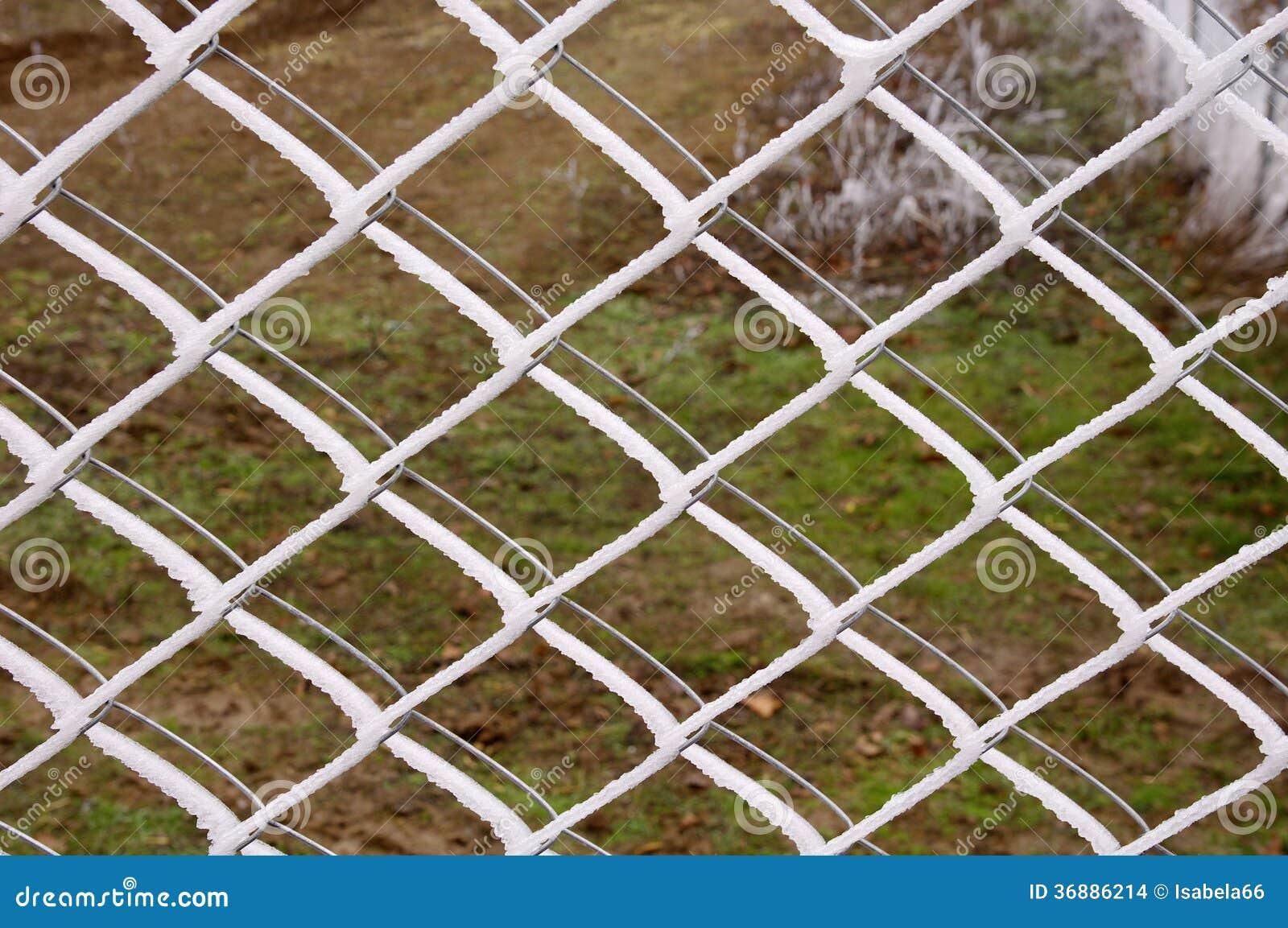 Download Recinto Con La Brina Nell'inverno. Fotografia Stock - Immagine di maglia, luminoso: 36886214