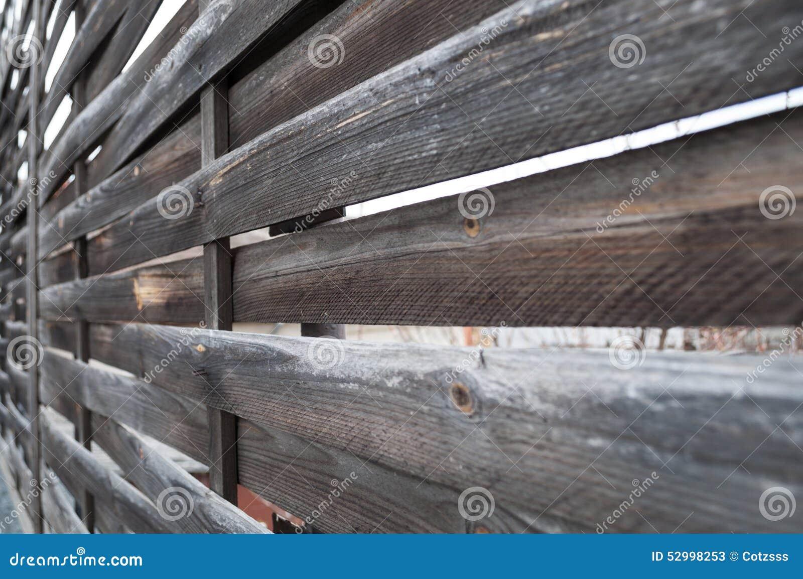 Recinto di legno di Planked - vista orizzontale