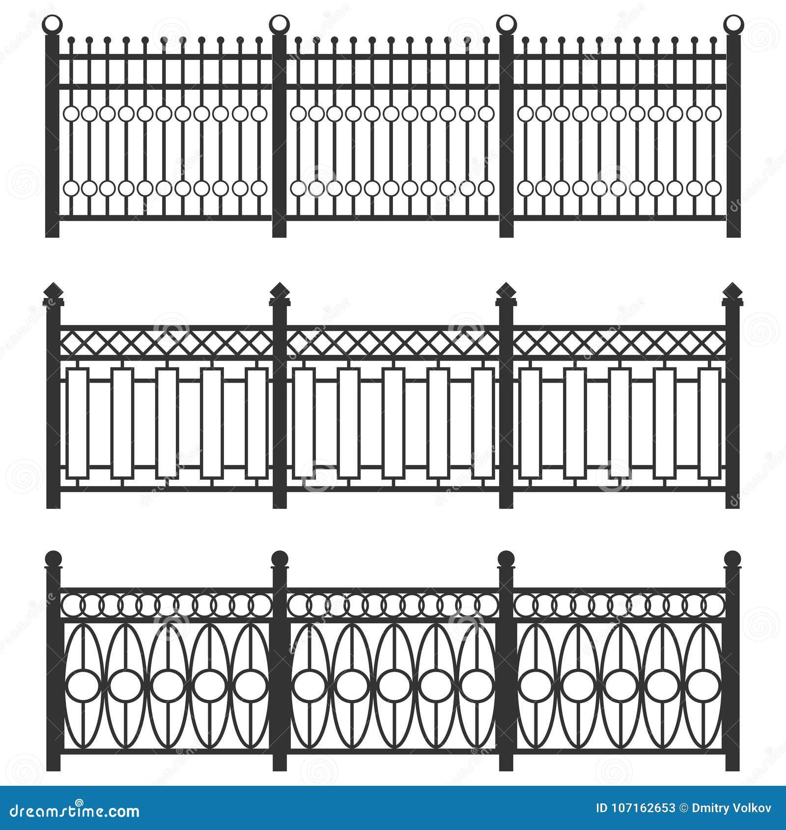 Recinto-griglia del metallo, recinto forgiato Un insieme dei recinti fatti della grata nera La catena isolata collegata recinta i