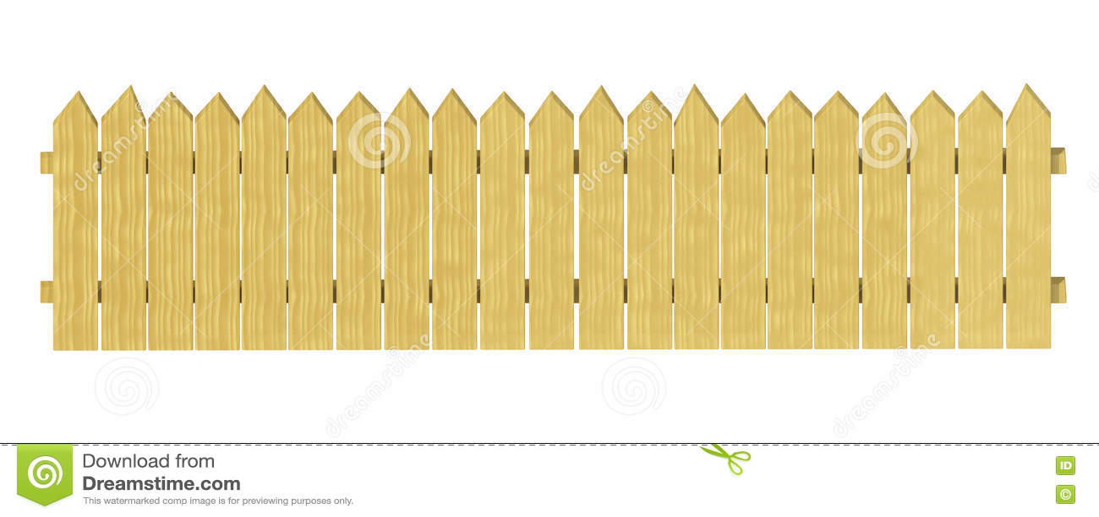 Recinzione di legno decorativa del giardino illustrazione for Recinzione legno giardino