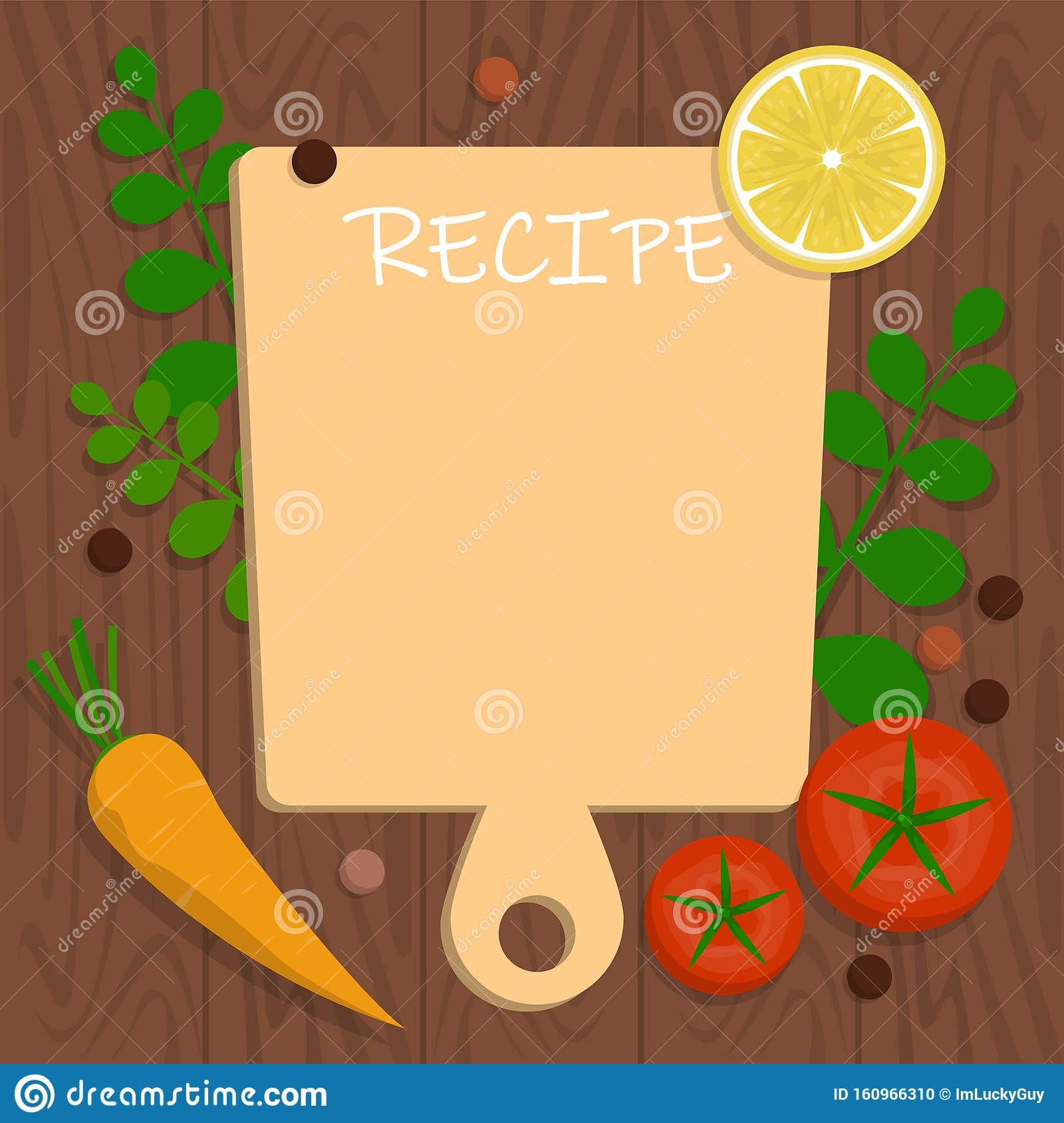 Recipe Banner Template Blank Space For The Text Cooking Idea Stock Illustration Illustration Of Block Cartoon 160966310