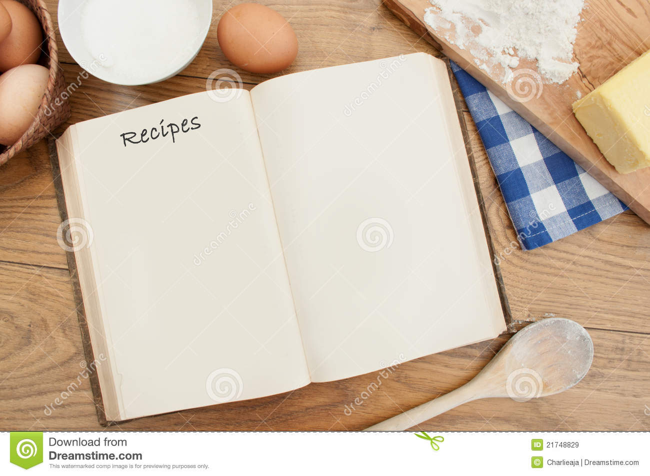 Recipe Book Stock Image Image Of Page Preparation Blank