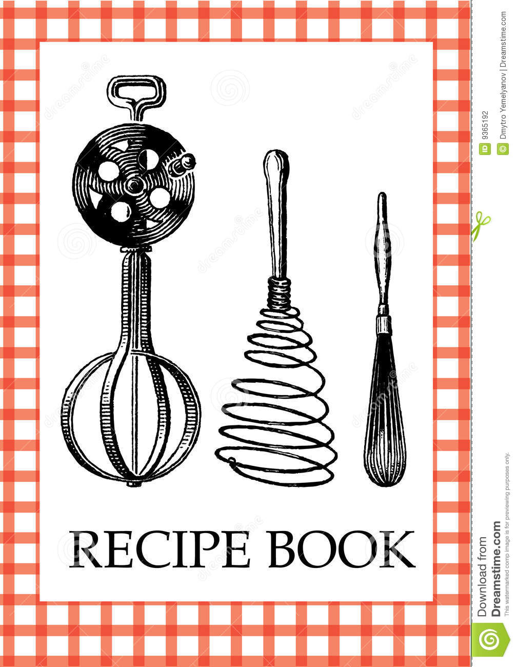 Cookbook Cover Template Free Download : Recipe book stock vector illustration of accessory