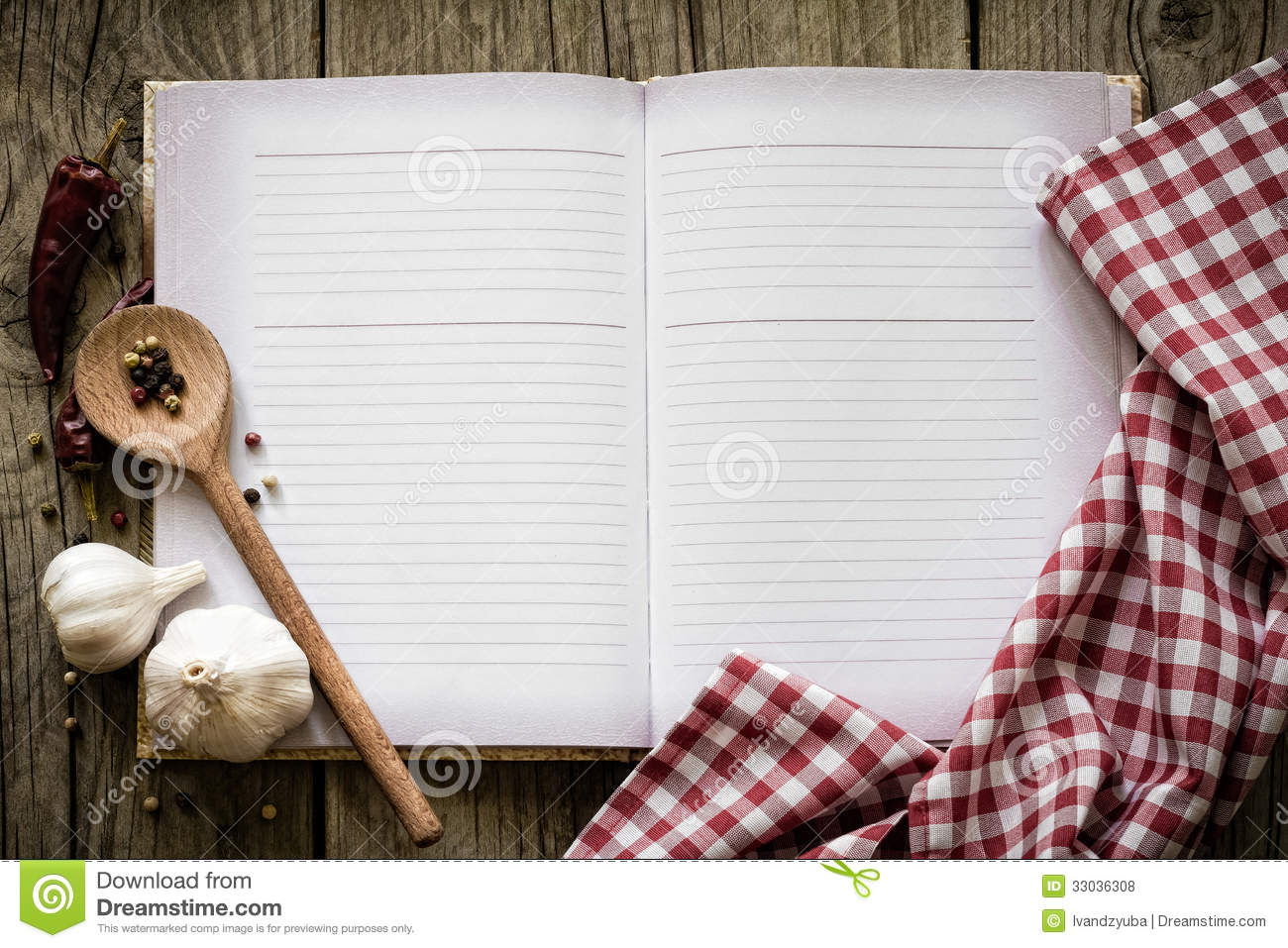 recipe book royalty free stock photos - image: 33036308