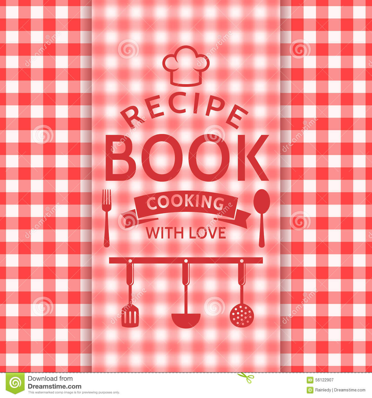 Recipe Book Vector Card