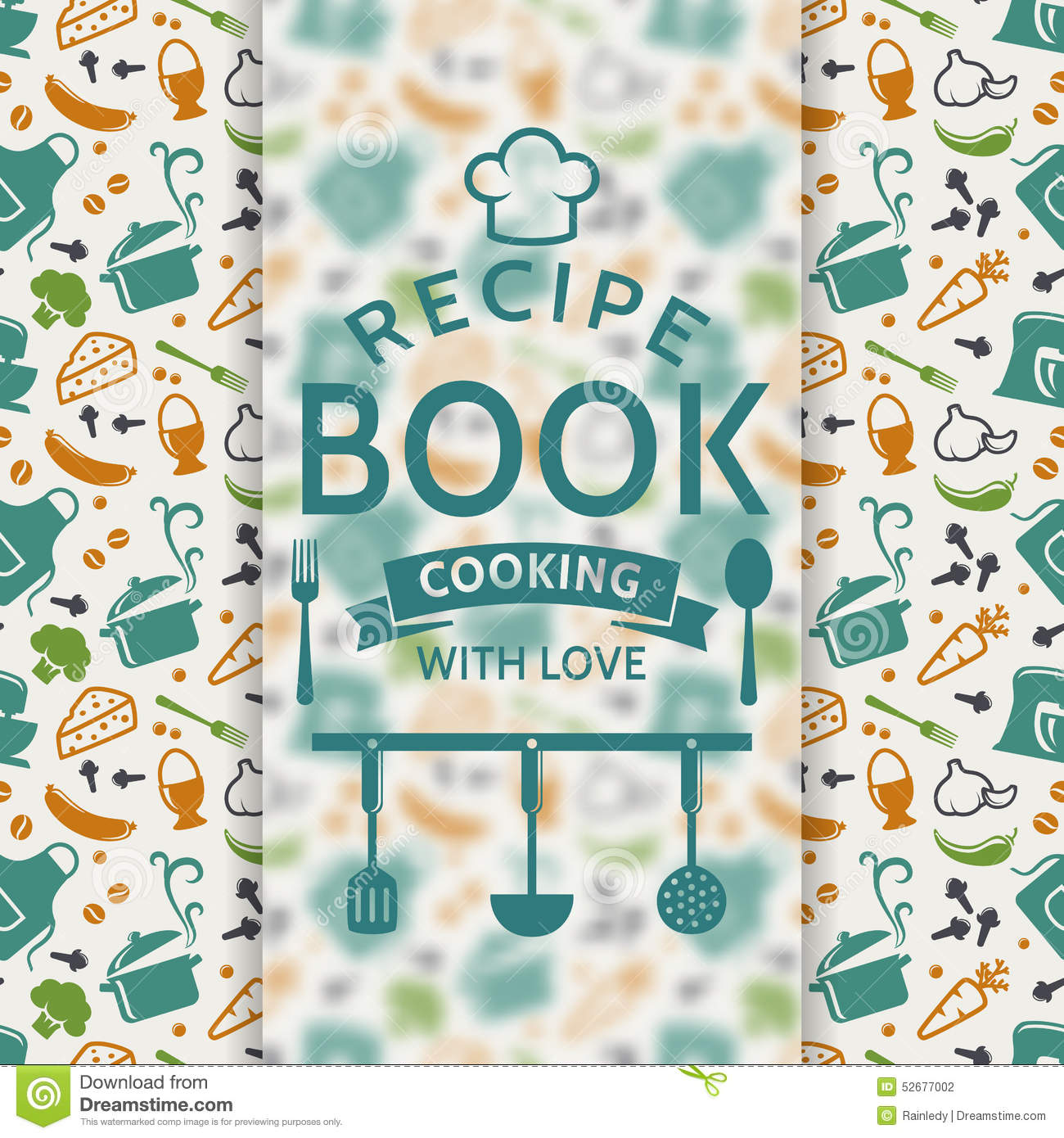 Cookbook Covers Clipart : Recipe book vector card stock image of