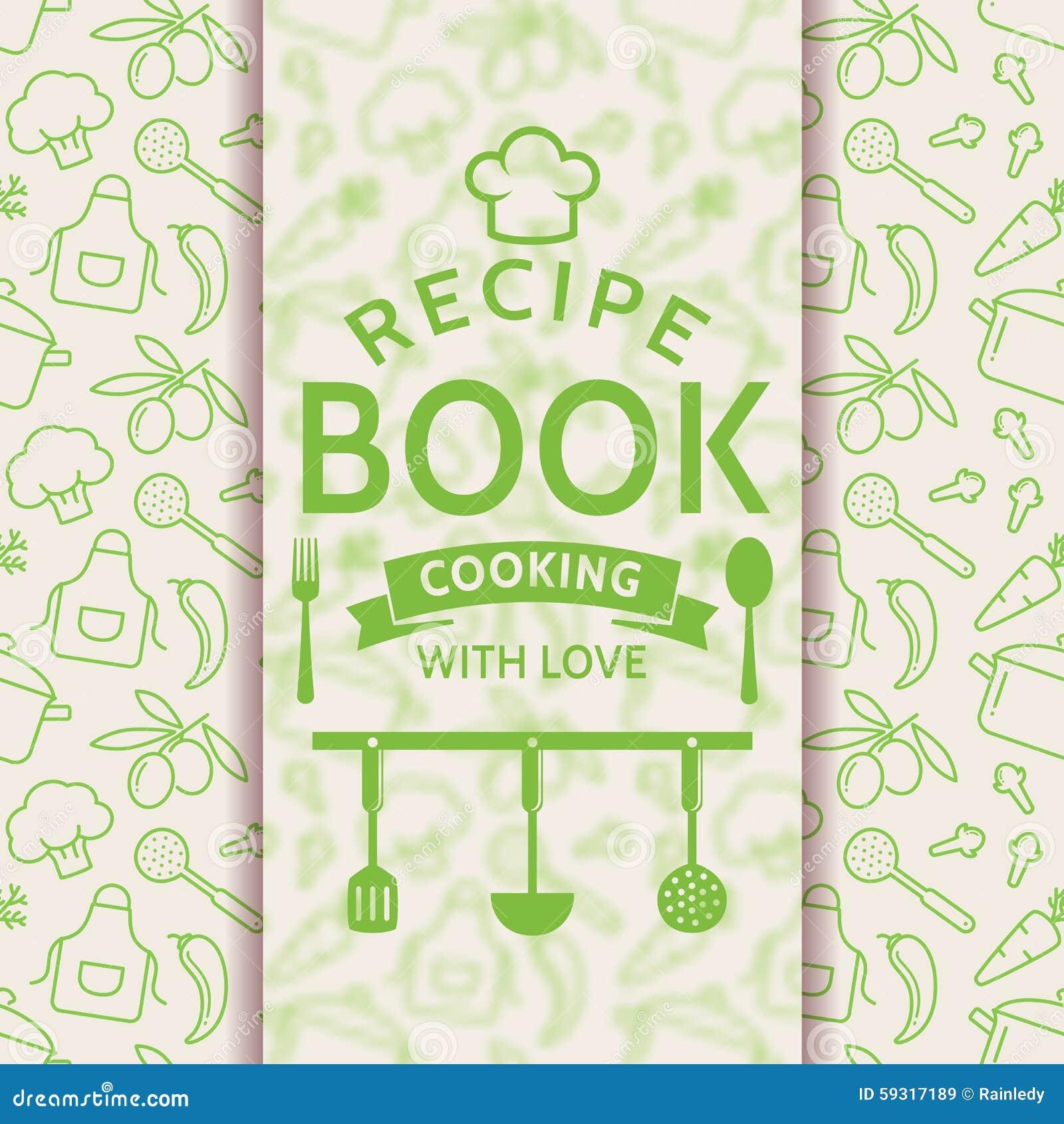 Recipe Book Vector Card Stock Illustration Of Design