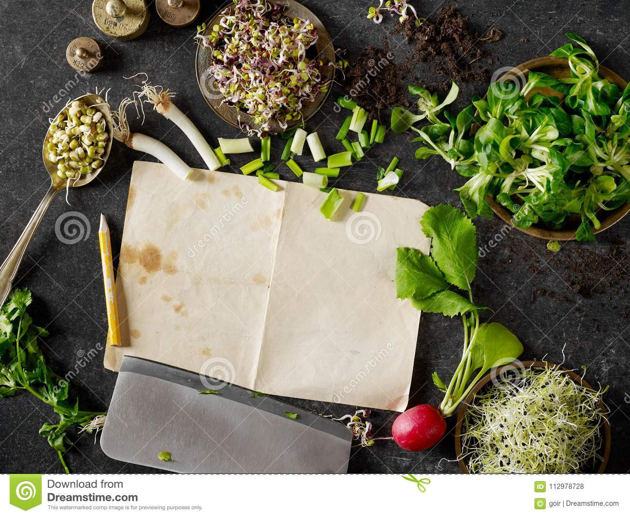 Recipe and greens