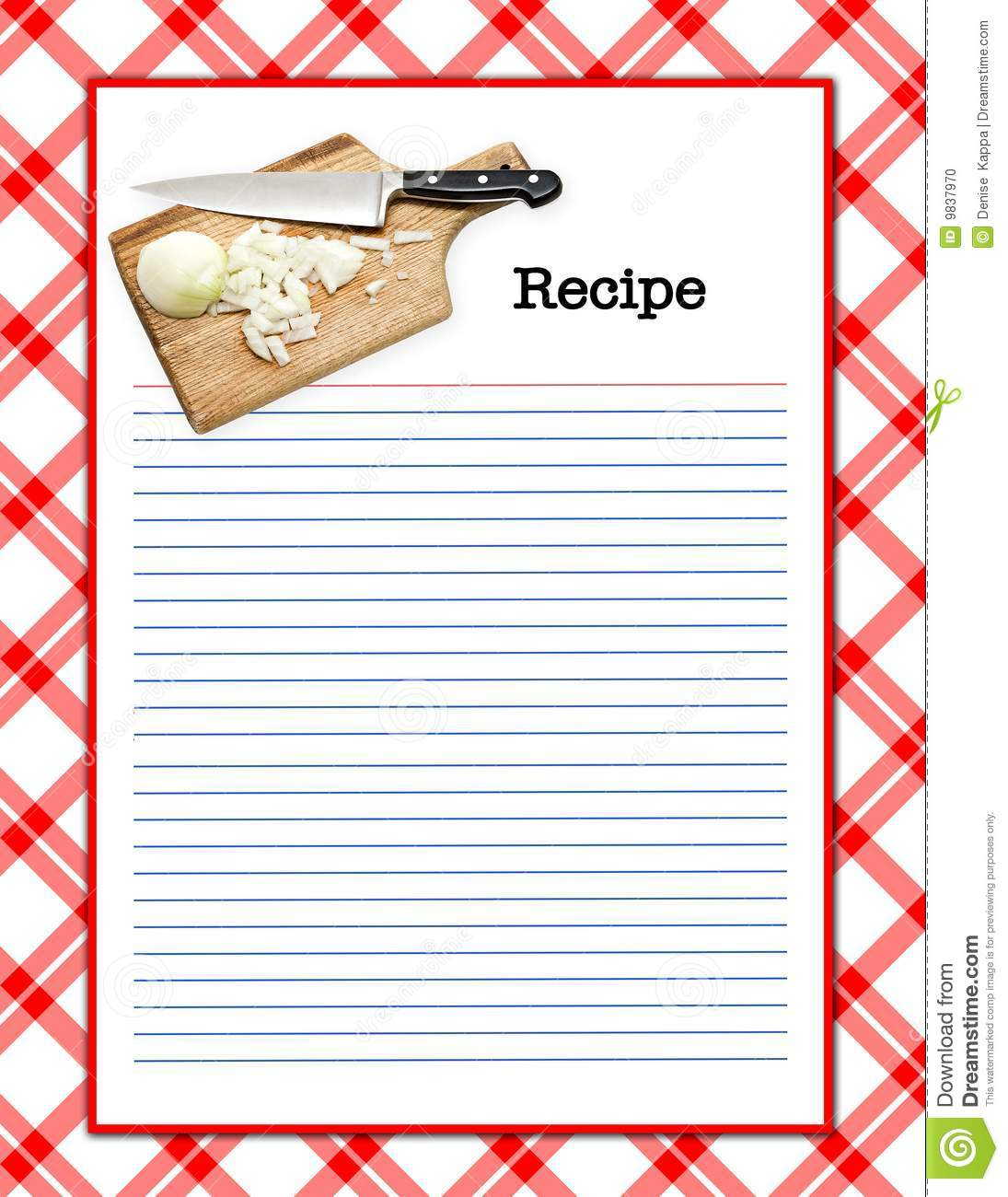 Open church door clipart - Red White Recipe Layout Matching Background Menu Page Recipe
