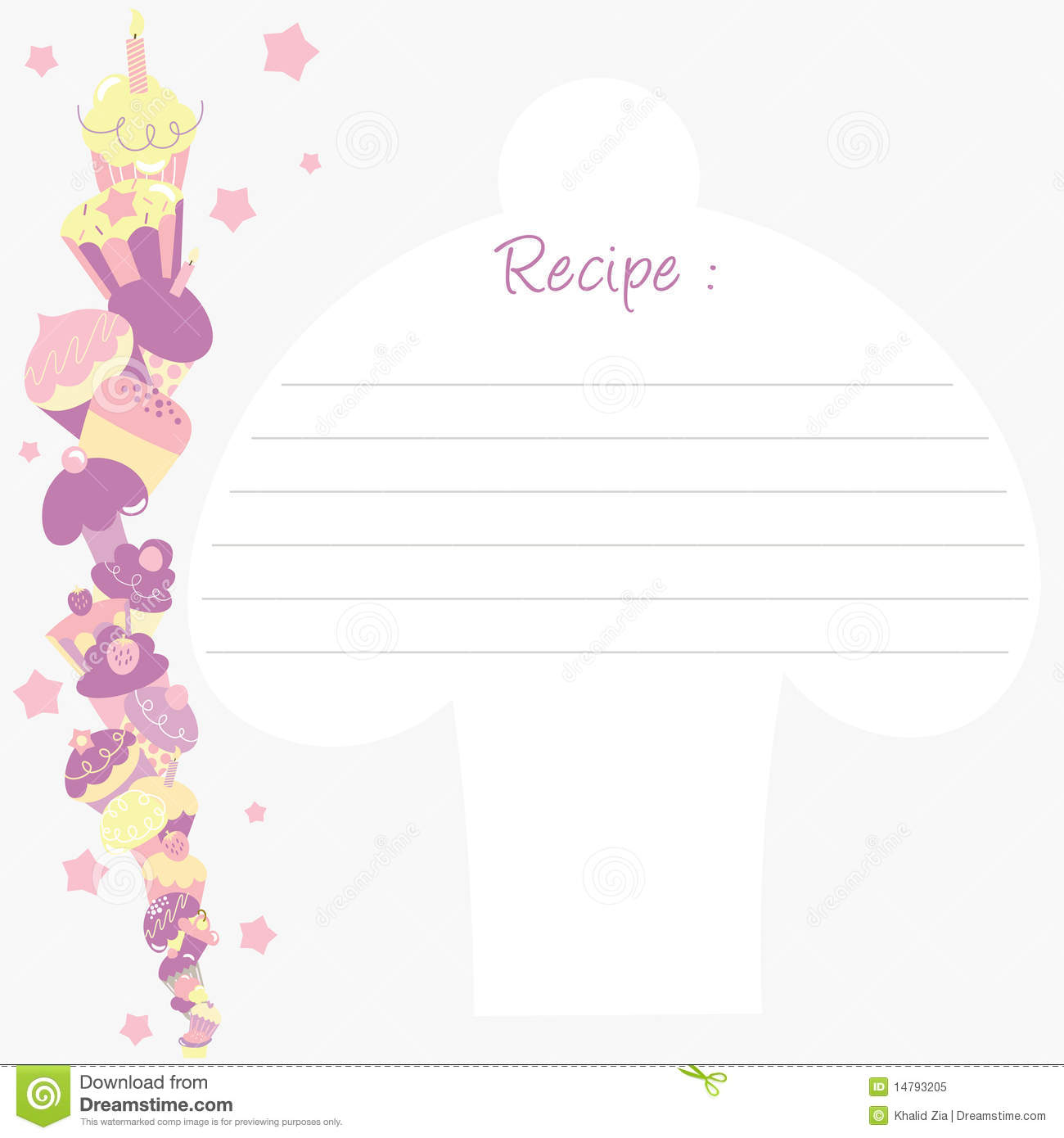 recipe template stock vector  illustration of brochure