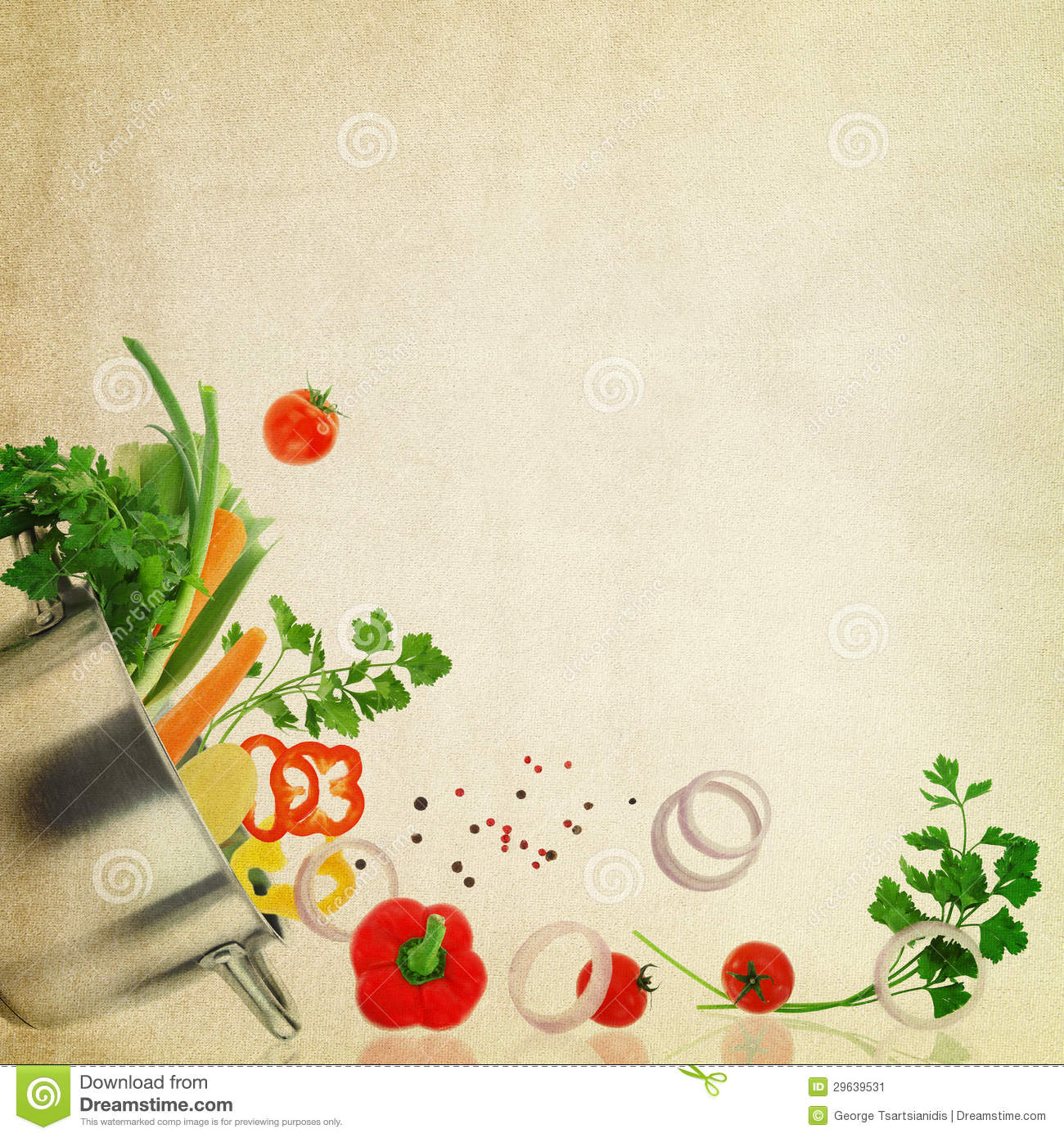 Recipe Background Template