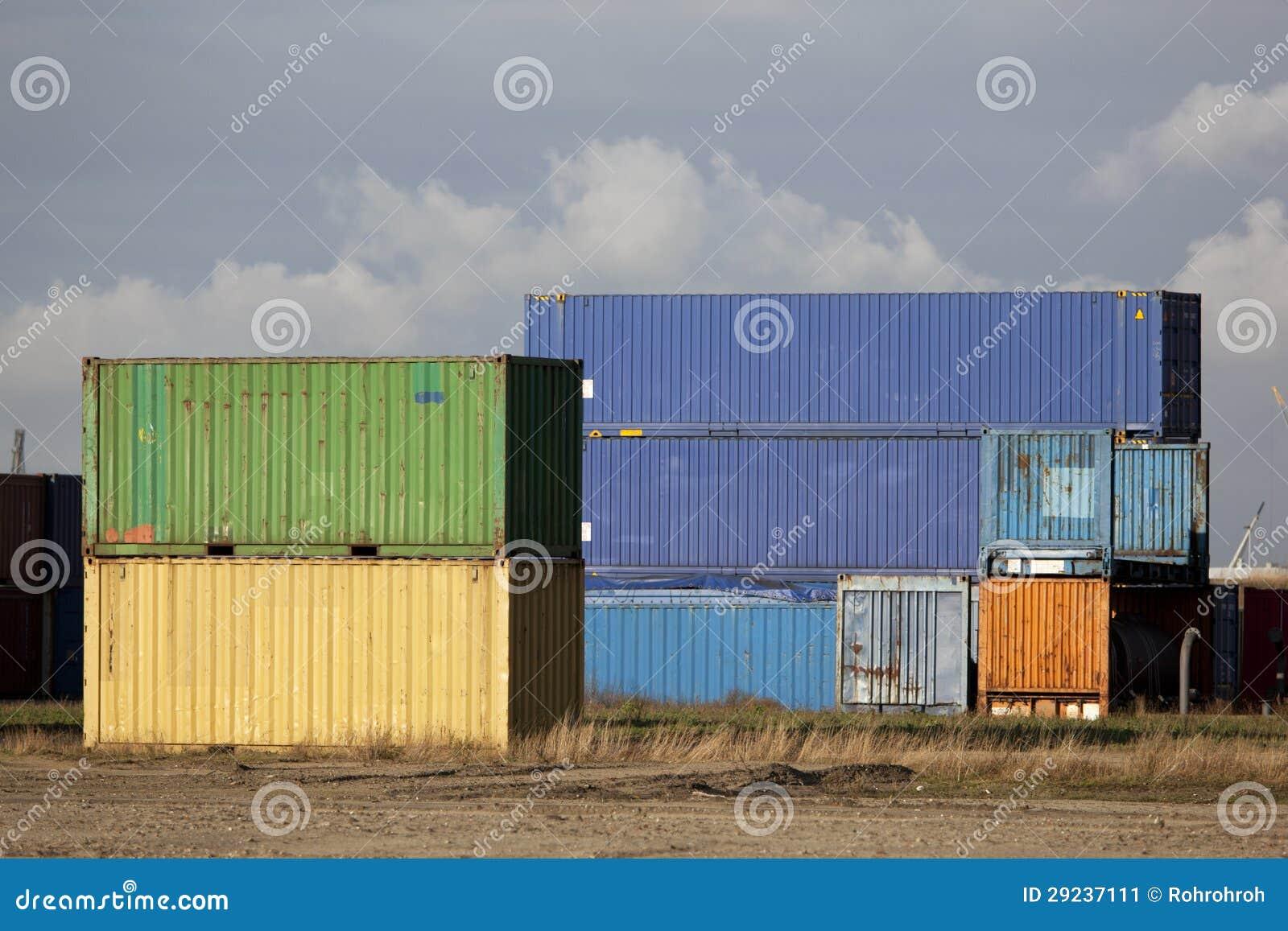 Download Recipiente de carga imagem de stock. Imagem de indústria - 29237111