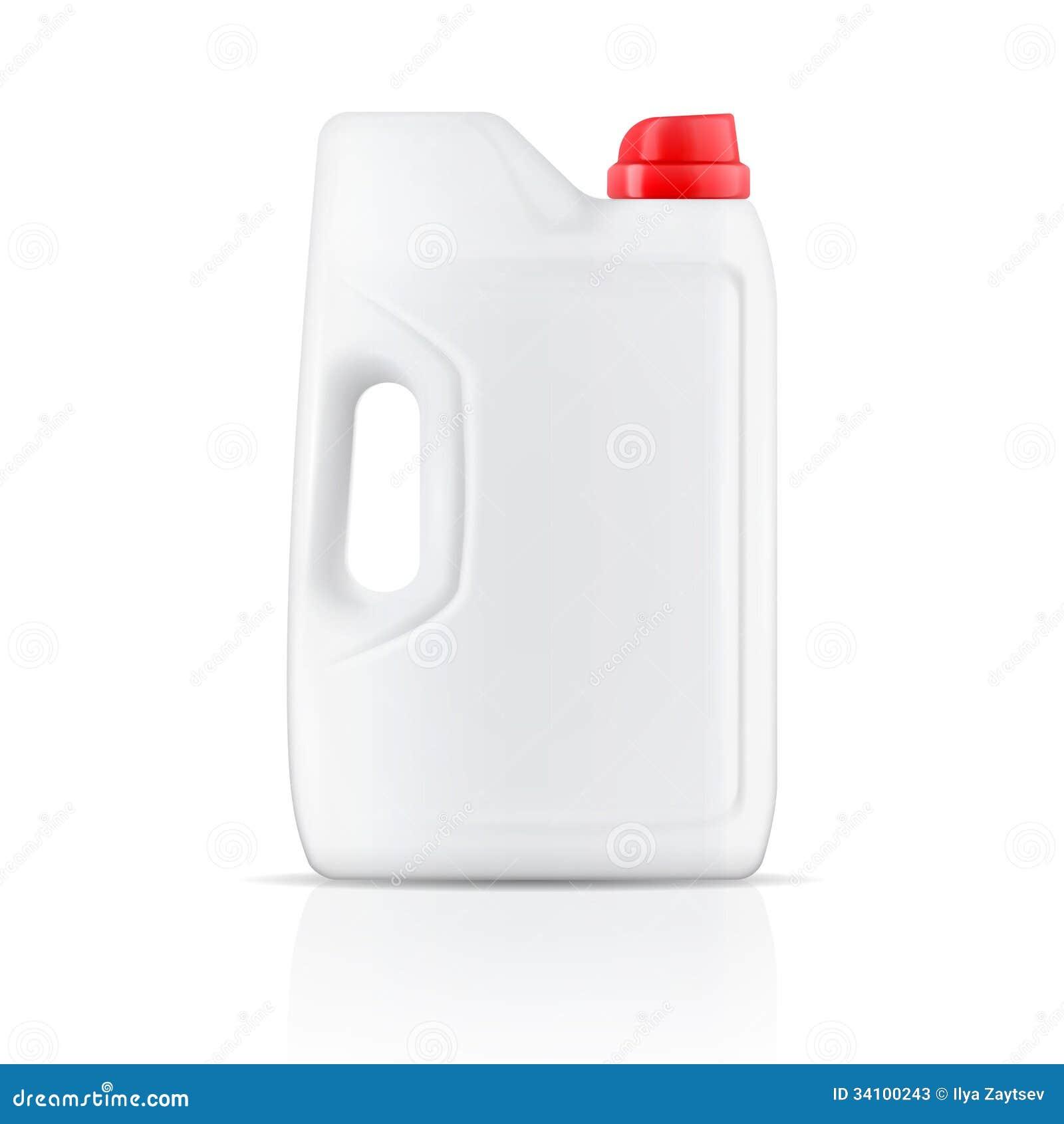 Recipiente de pó branco do detergente para a roupa.