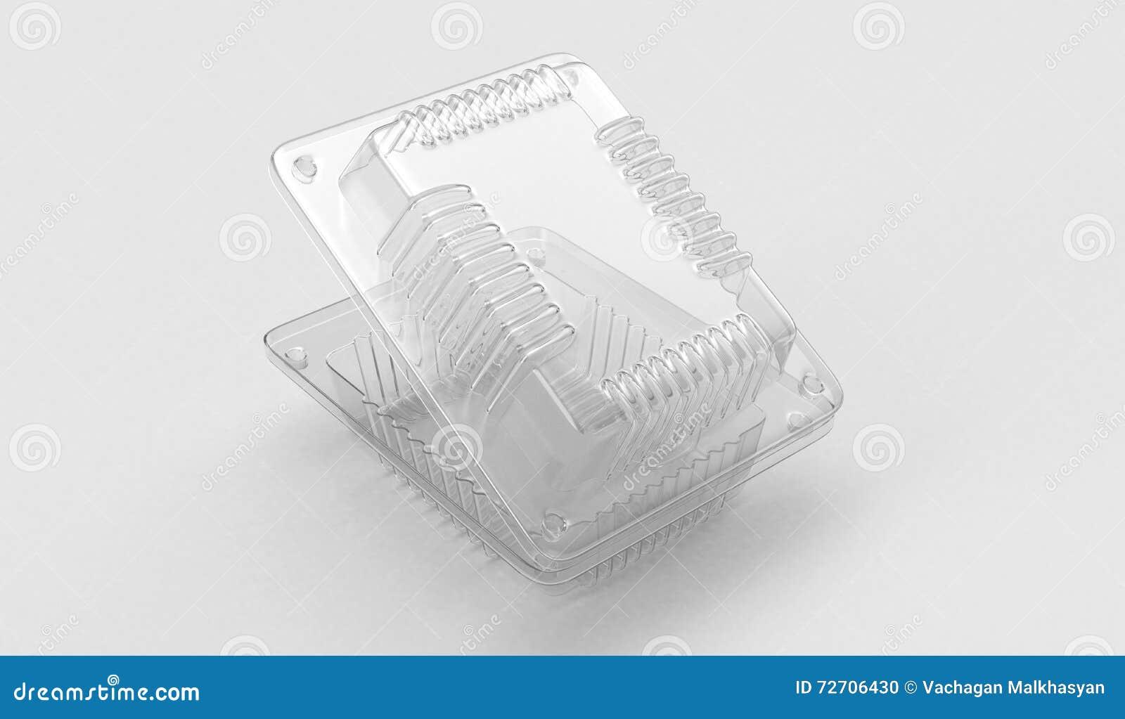Recipiente plástico para o alimento 3d rendição 3d
