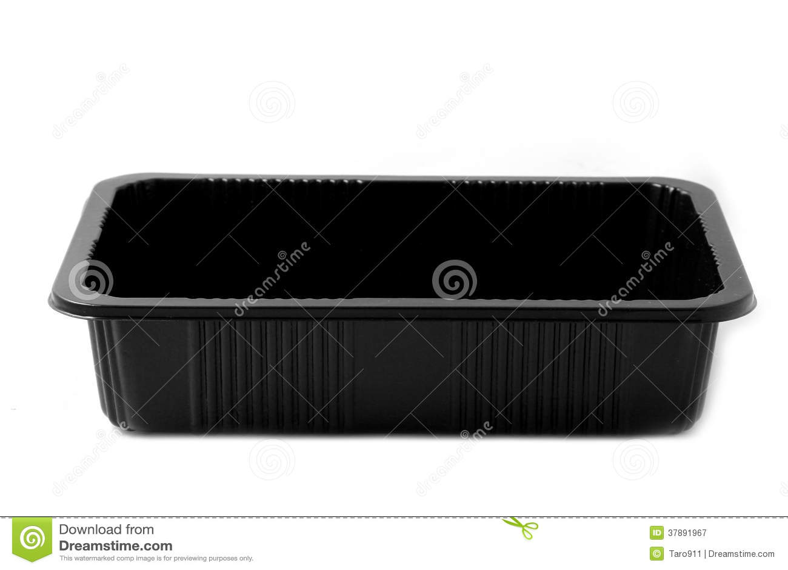 Recipiente plástico preto