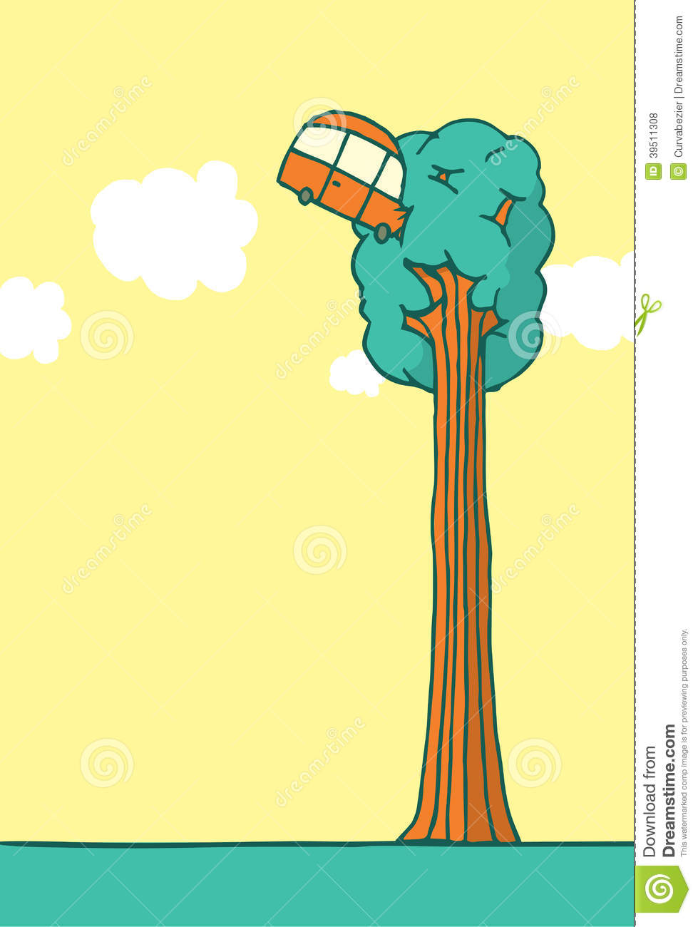 Reckless Driver Crashes Into Tree Stock Vector - Image ...