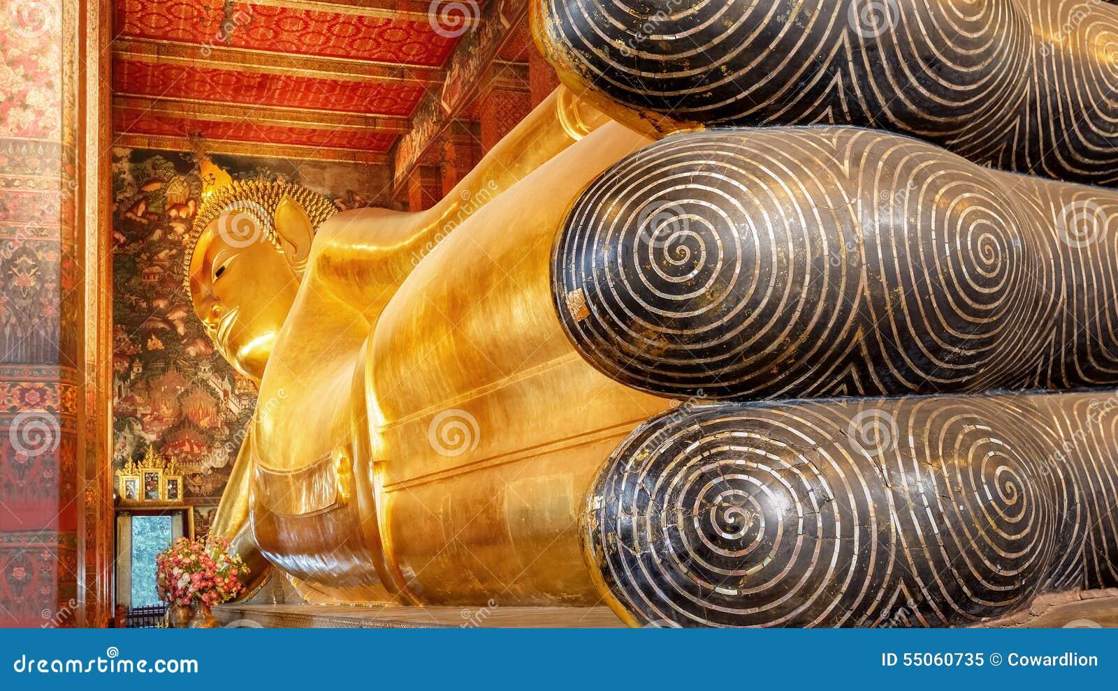 The Reclining Buddha at Wat Pho (Pho Temple) in Bangkok