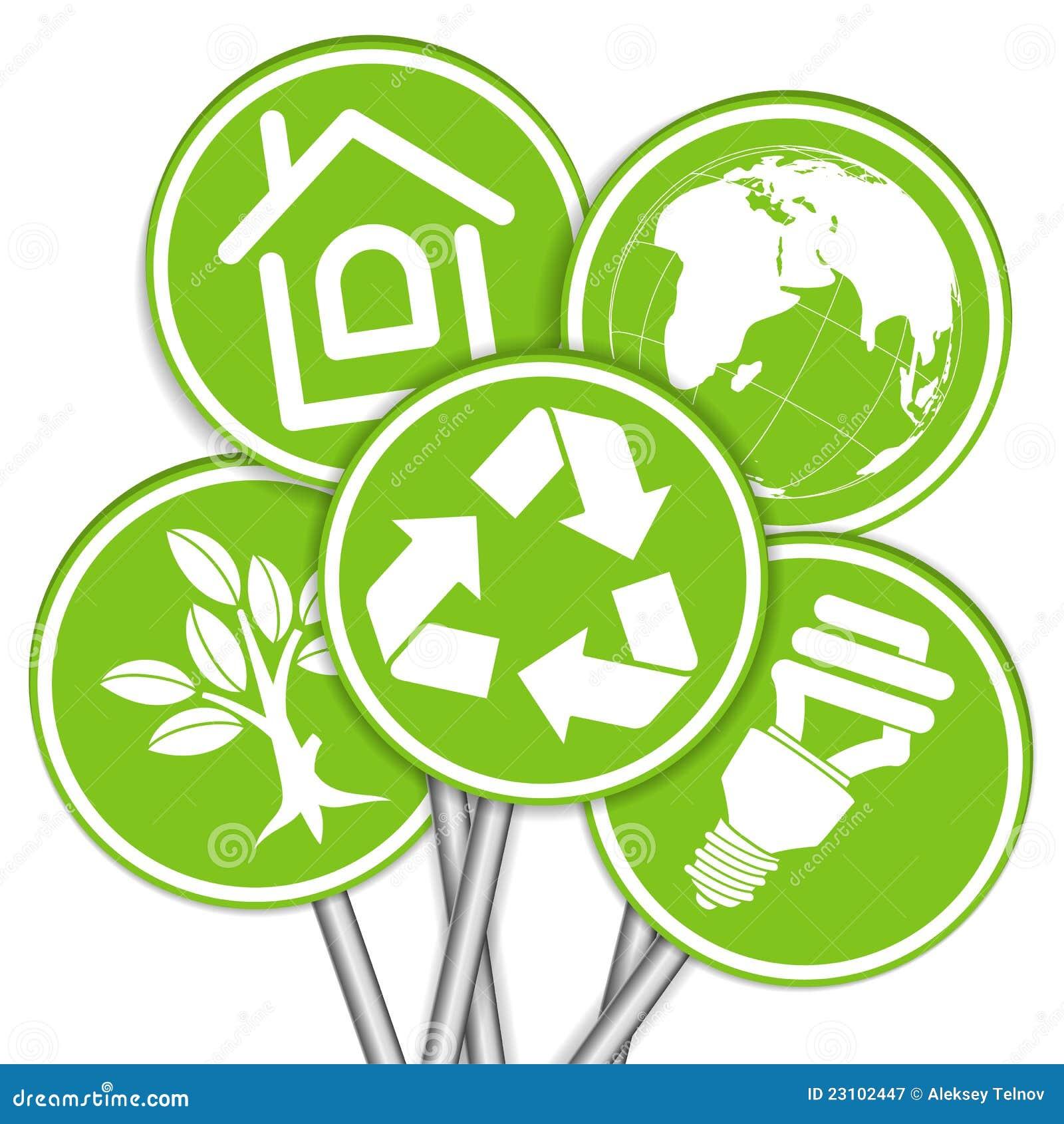 Recoja la bandera del ambiente