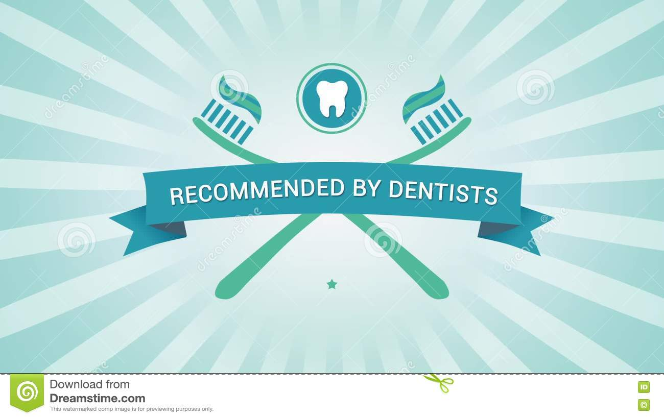 Recommended By Dentists - Motion Graphics Stock Footage