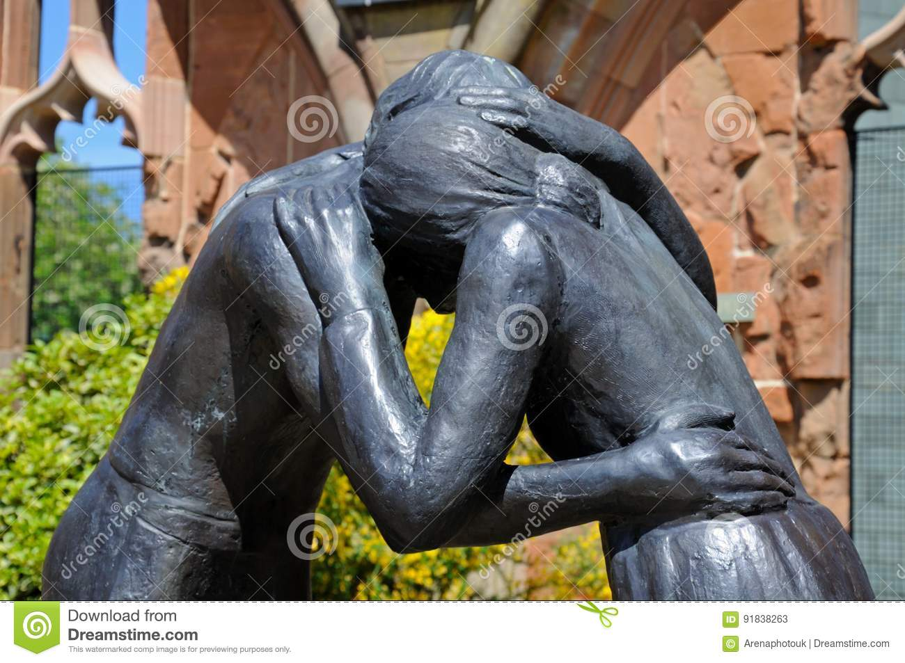 Reconciliation statue at Coventry Cathedral.