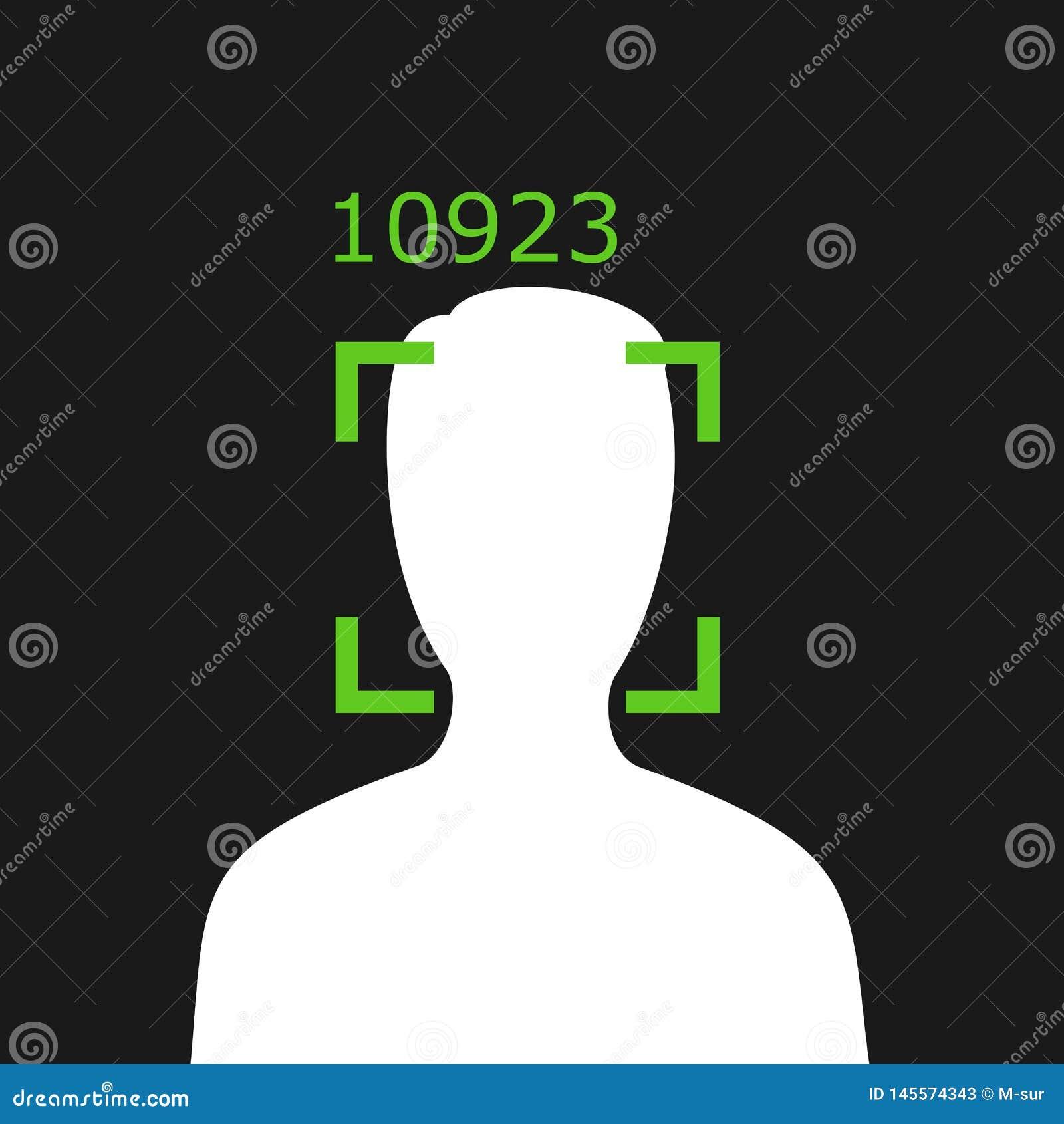 Reconnaissance faciale - surveillance et surveillance de personne par la technologie moderne