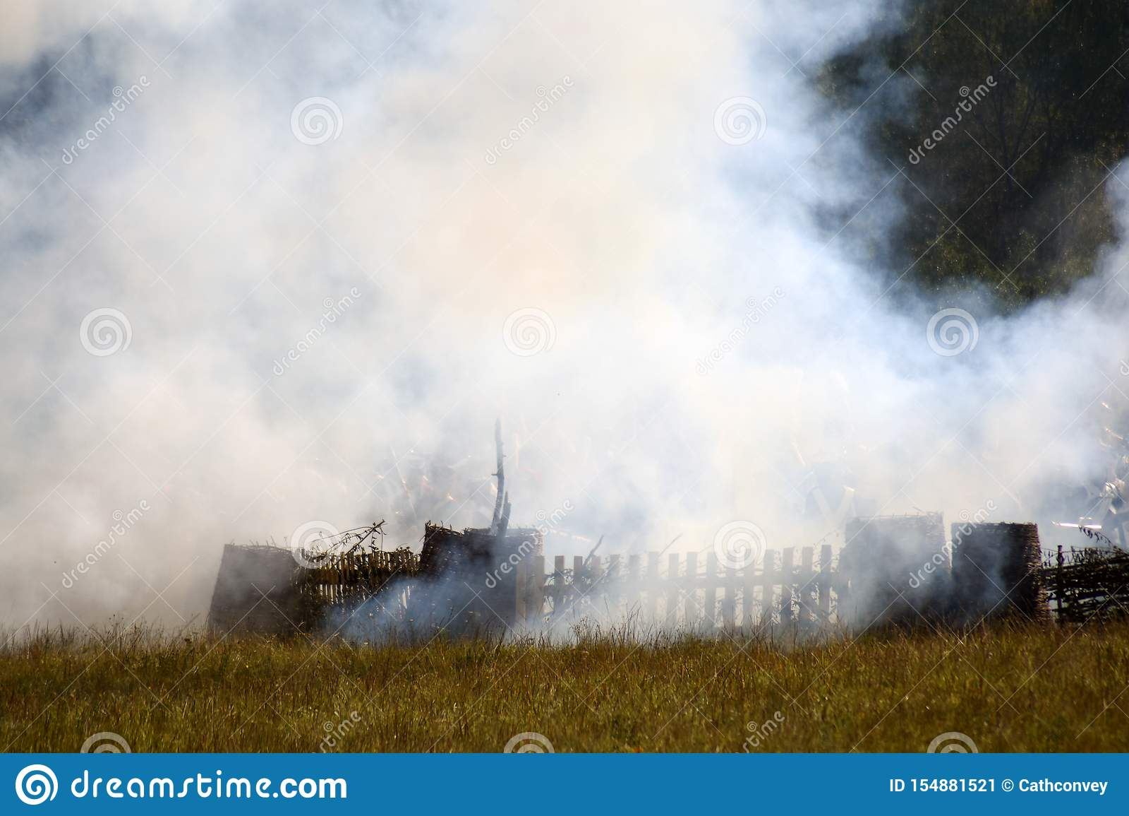 Reconstitution historique de bataille de Borodino en Russie