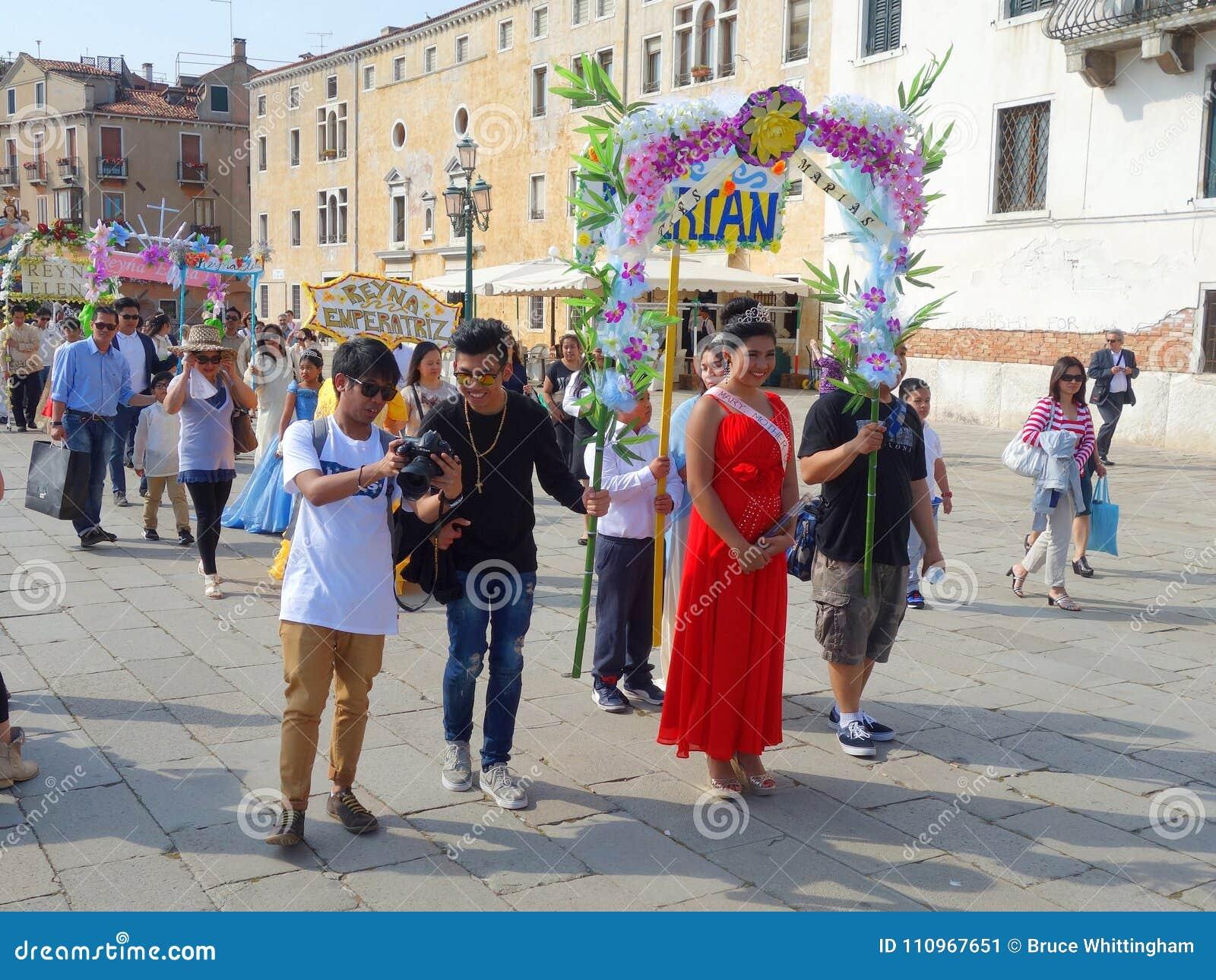 Reconstitution historique de Santacruzen, Venise, Vénétie, Italie