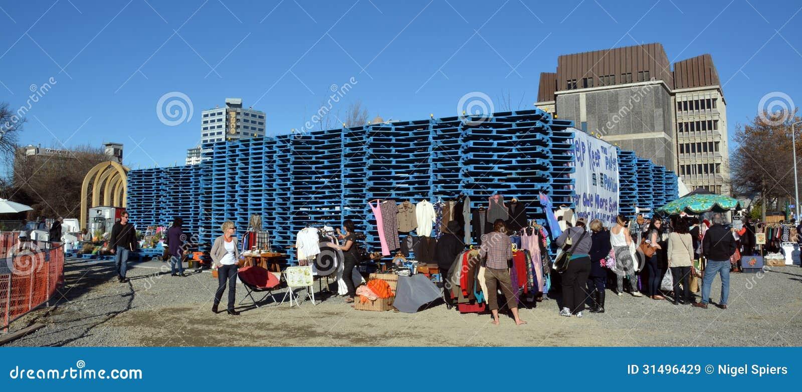 Reconstrucción del terremoto de Christchurch - pabellón de la plataforma del reemisor de isofrecuencia.
