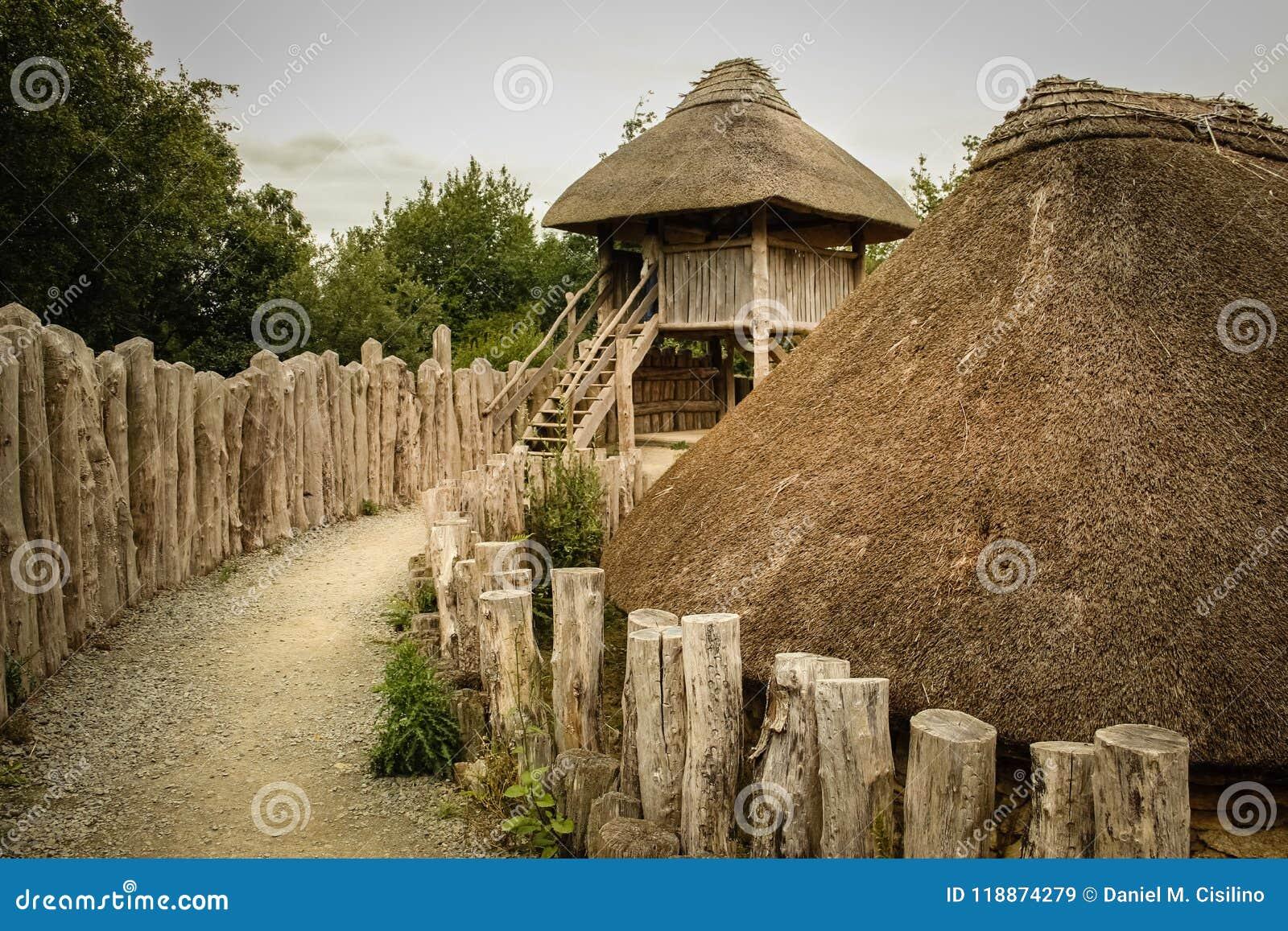 Irish National Heritage Park   Wexford  Ireland Stock Image