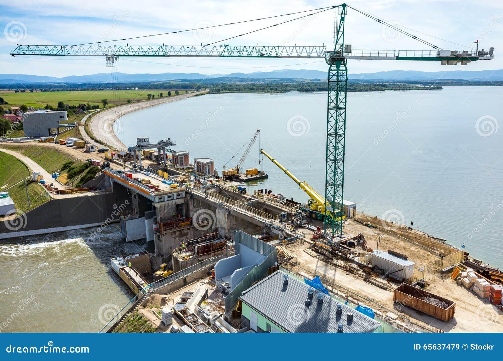 Reconstruction moderne de barrage