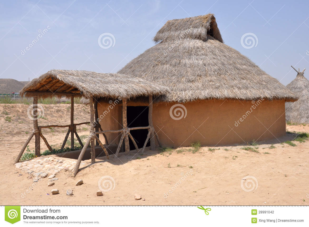 Reconstruction Of Neolithic House In The Semi Subterranean Mud Houses Started