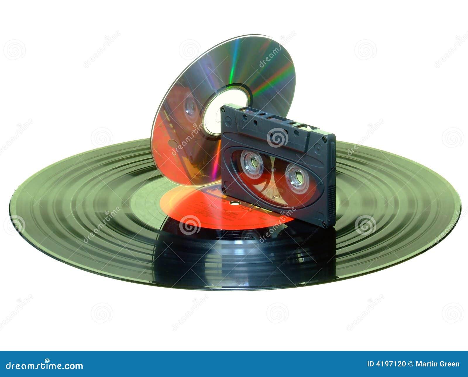 Record Cassette Cd Stock Photo Image 4197120