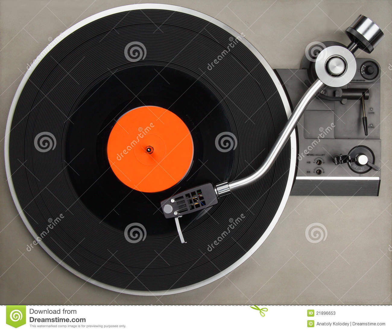 Record Player With Phonorecord Stock Image Image Of