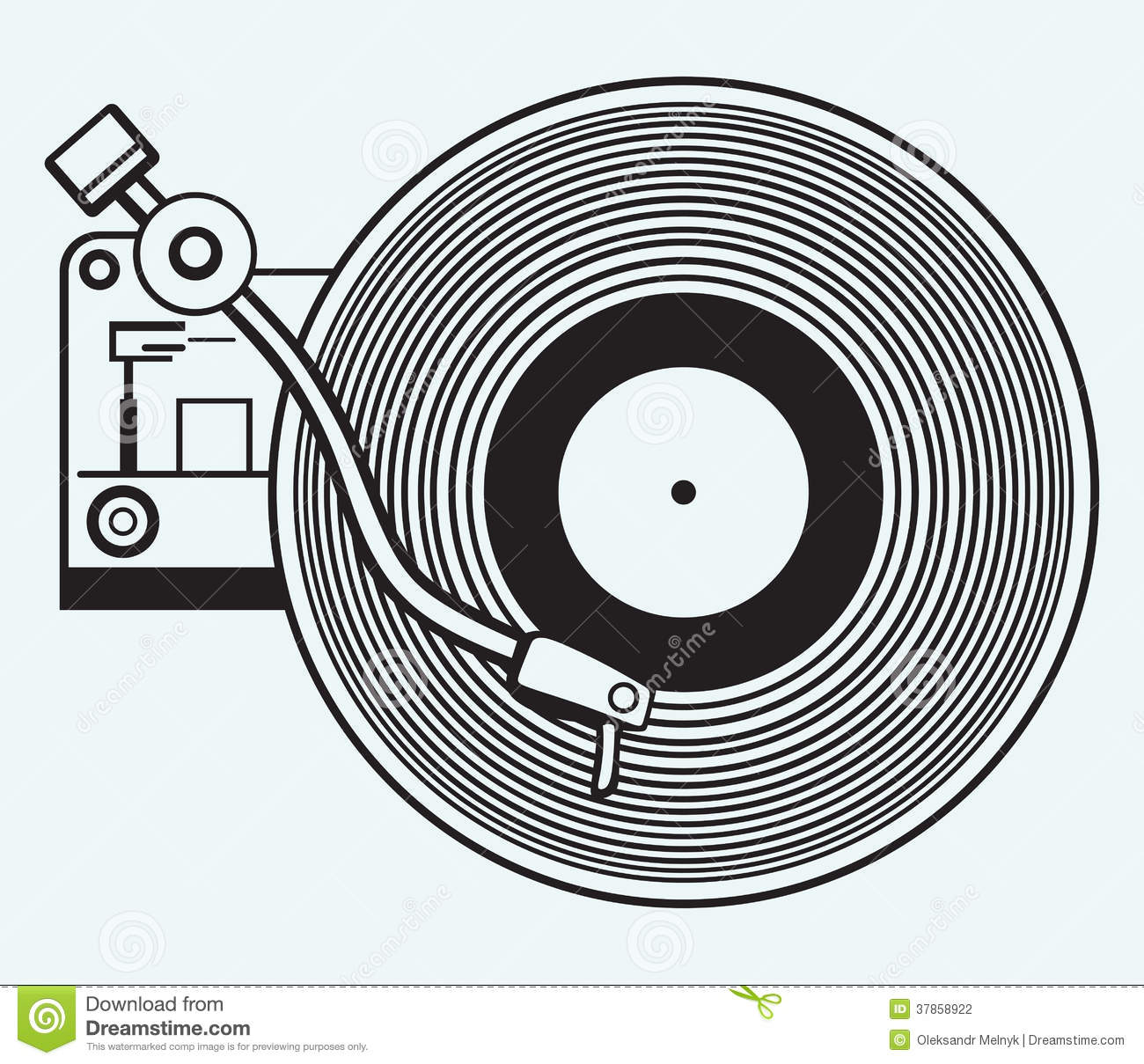 Record Player Vinyl Record Stock Photography  Image: 37858922
