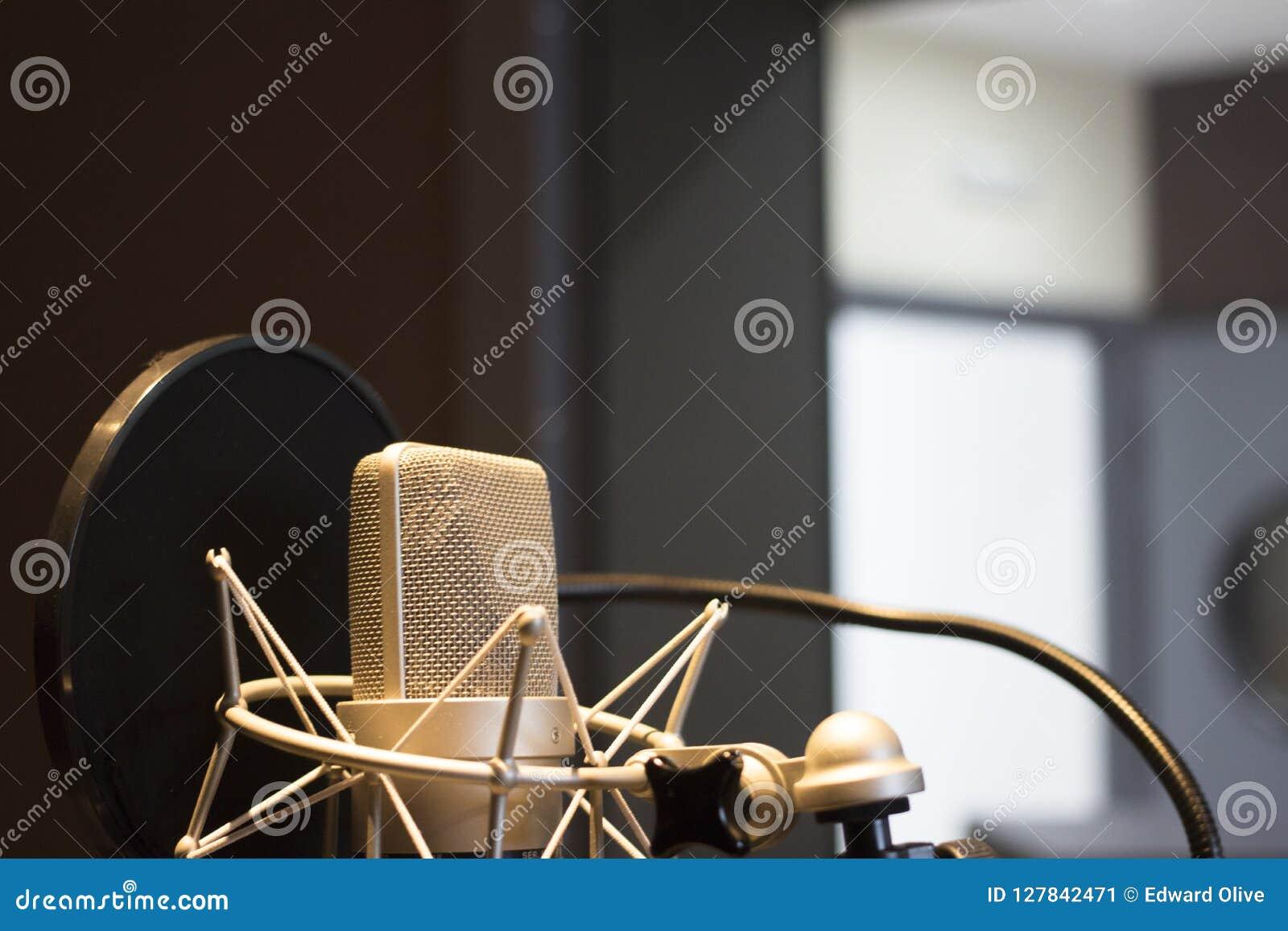Recording Audio Studio Microphone Stock Image - Image of