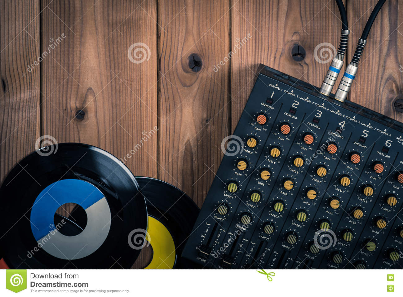 Recording mixer stock photo  Image of controller, channel