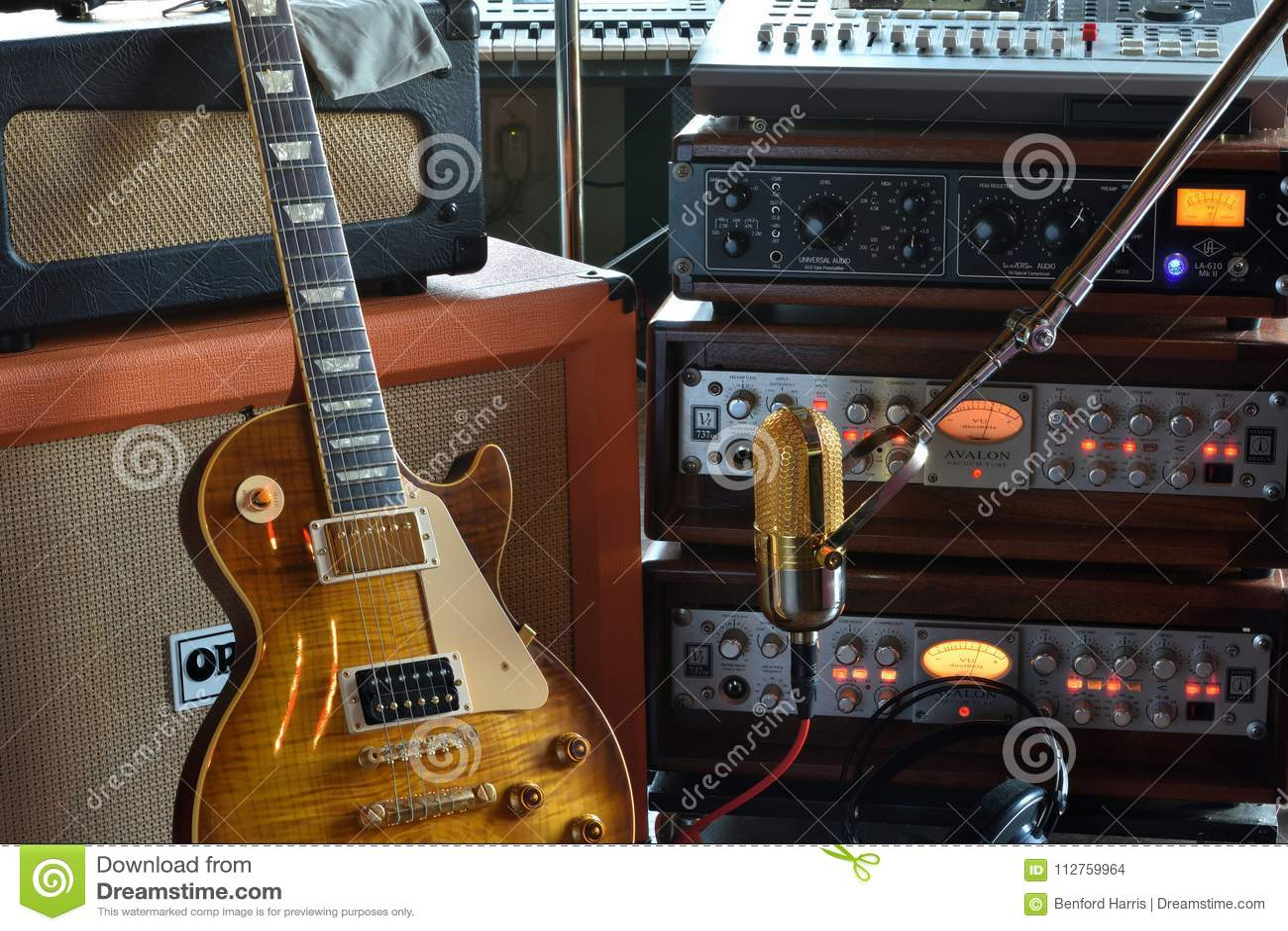 `The Recording Musician` Studio Stock Photo