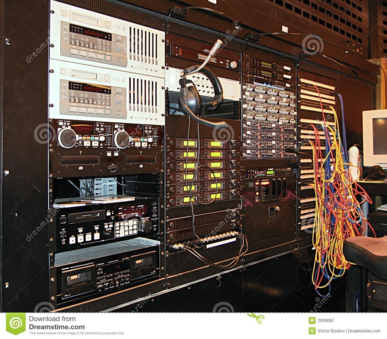 Recording Studio Equipment Royalty Free Stock Photography - Image ...