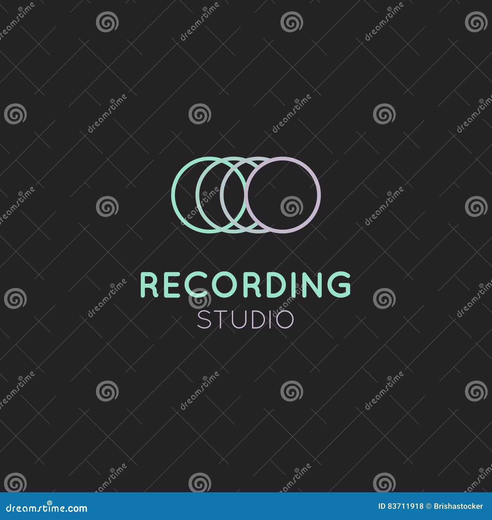 Recording Studio Label Stock Illustration