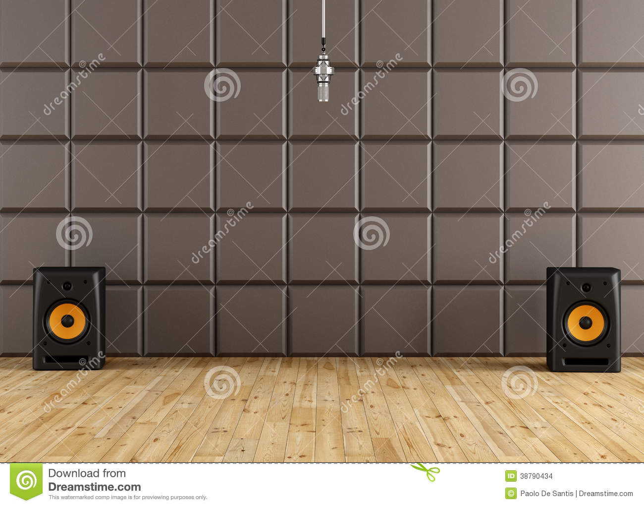 Recording studio stock illustration image 38790434 for Recording studio flooring