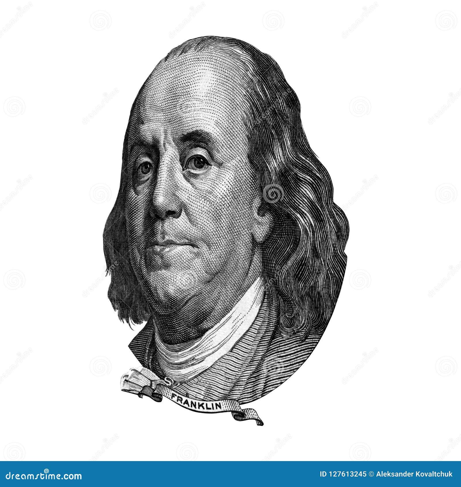 Recorte del retrato de Franklin Benjamin