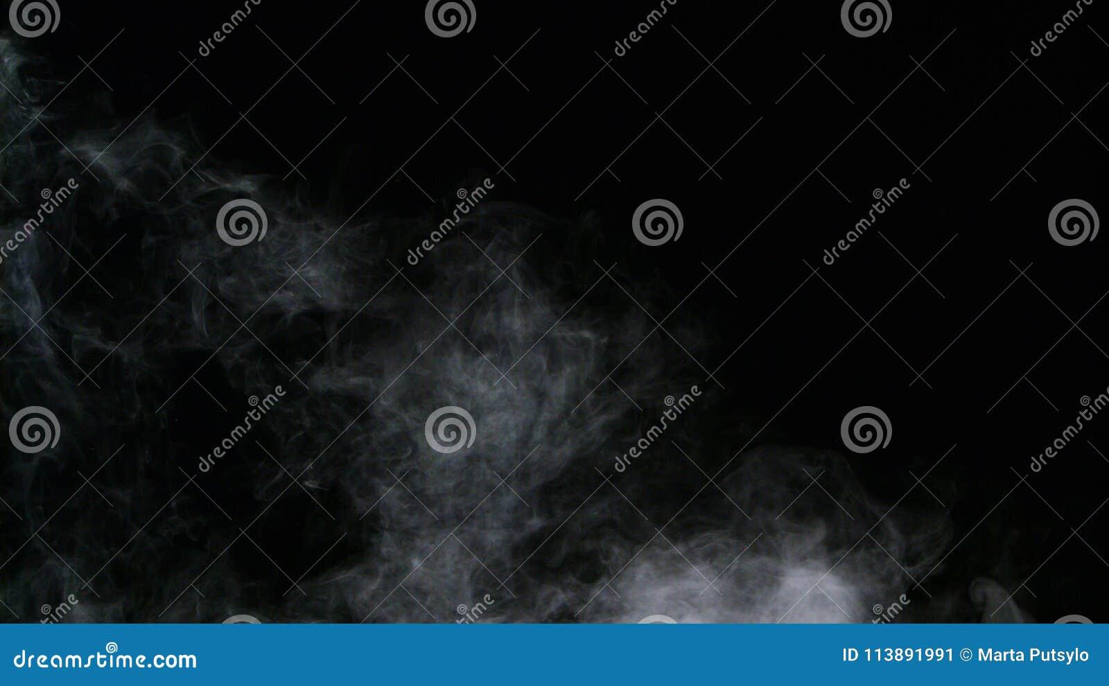 Recouvrement réaliste de brouillard de nuages de fumée de glace carbonique