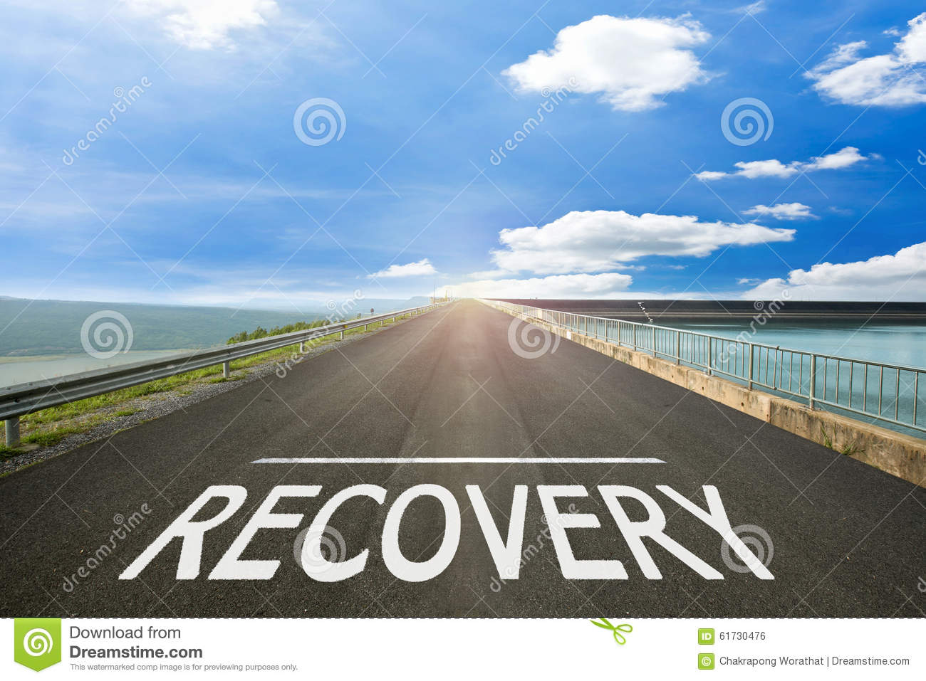 RECOVERY - Road surface of begin to the summer.