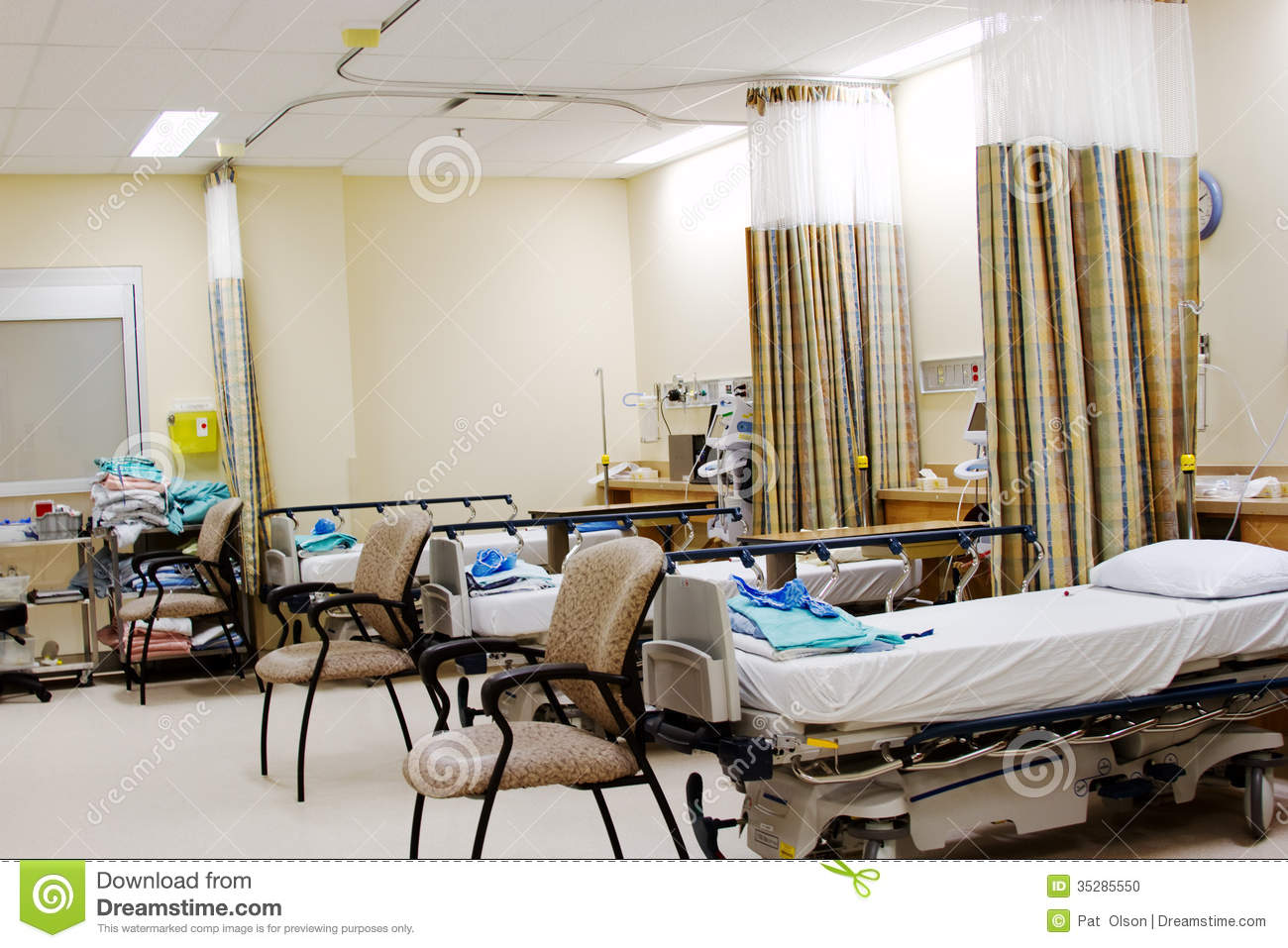 Recovery room for operating room stock photo image of for Image of a room