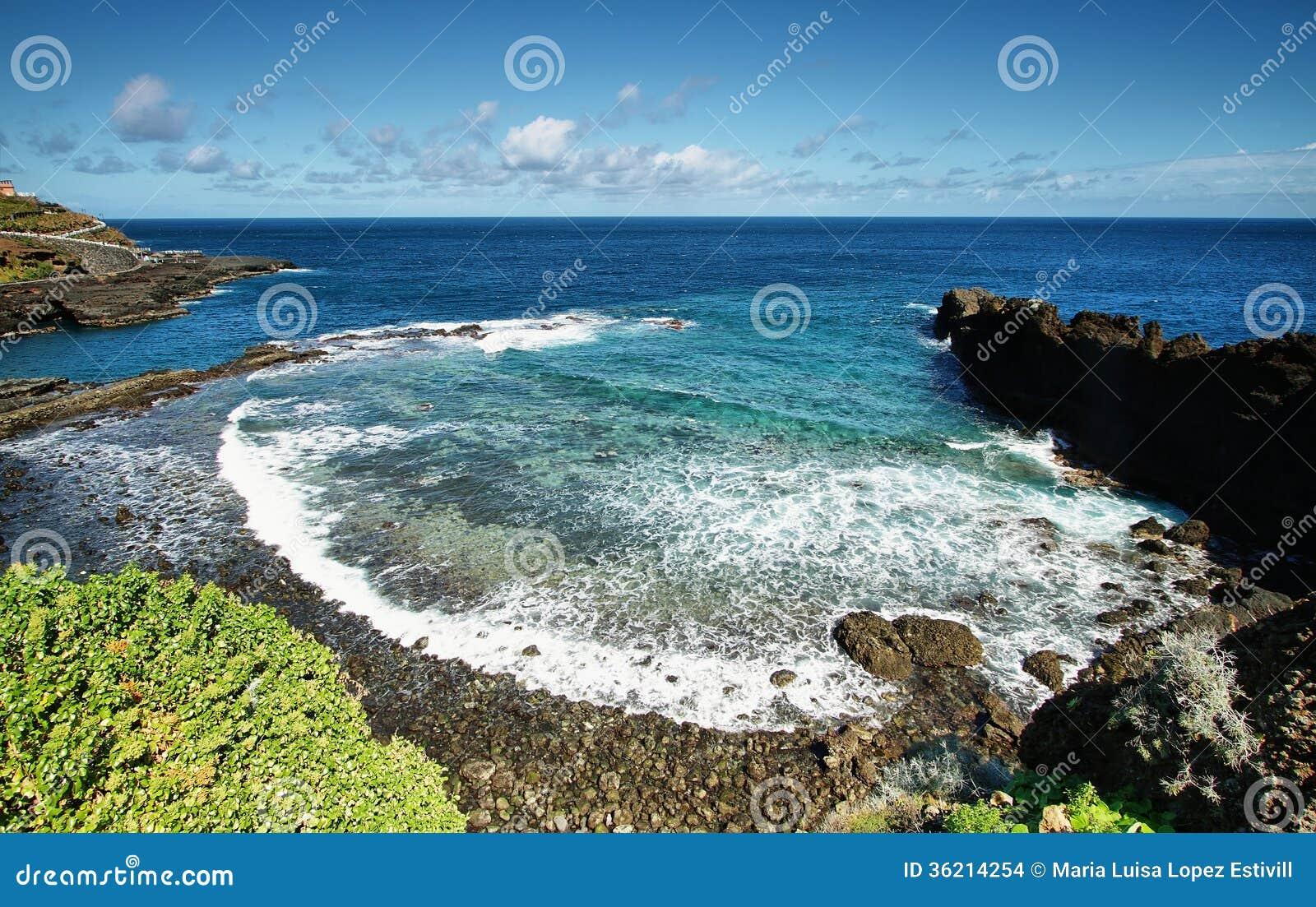 Recreatief gebied dat als Charco wordt bekend azul