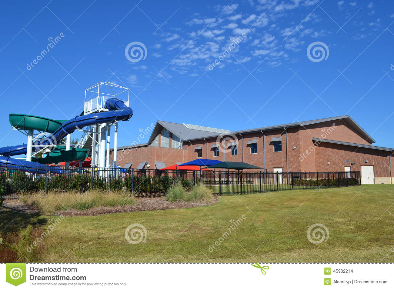 Recreation Center With Waterpark Stock Photo Image