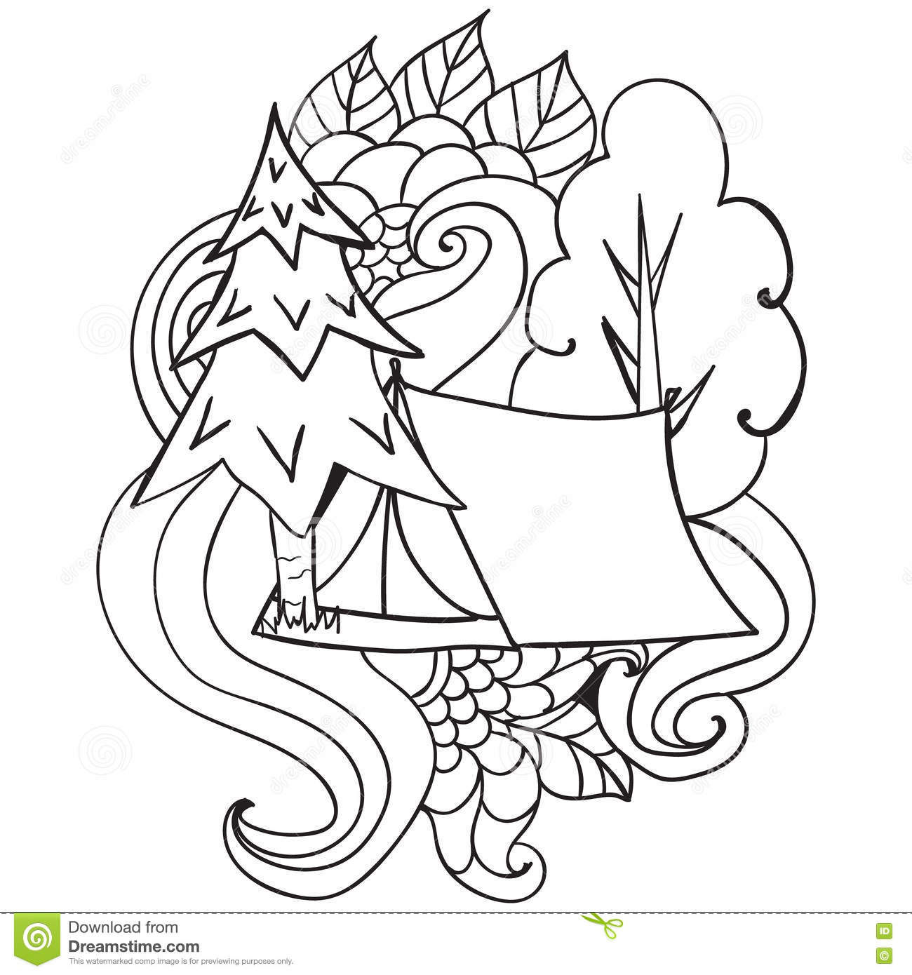 outdoor coloring pages - outdoor camping coloring coloring pages