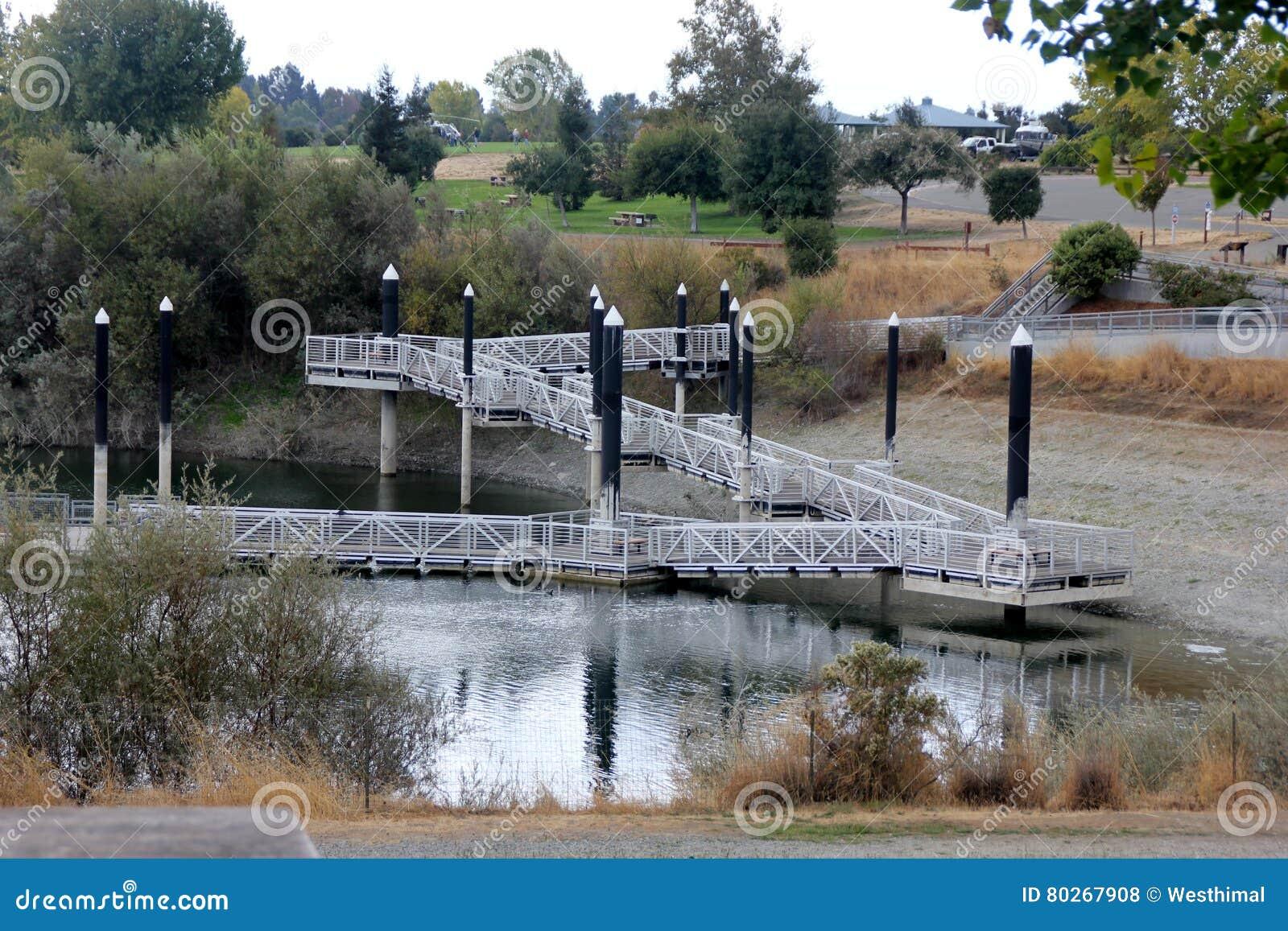 Recreational Area Of Quarry Lake, Fremont, California Stock Photo