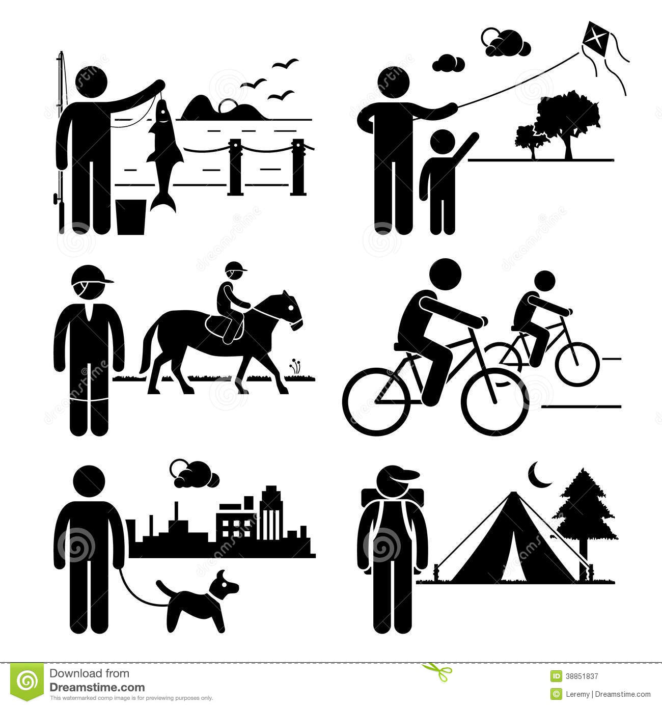 Recreational Outdoor Leisure Activities Clipart Stock ...